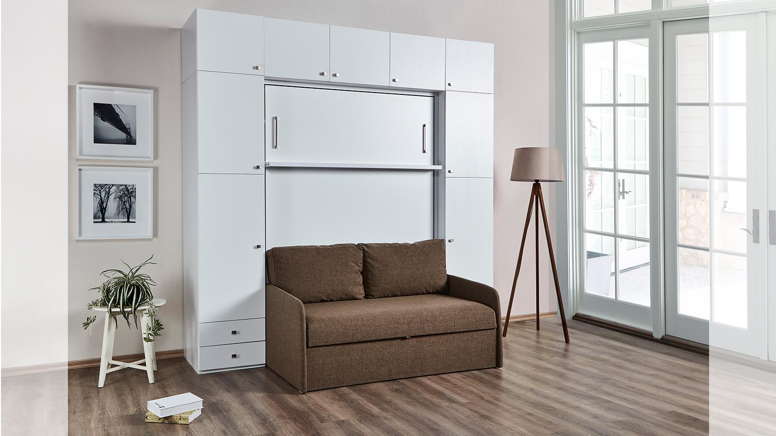 Multimo Wandklappbett 140x190 Loft Bed mit Couch