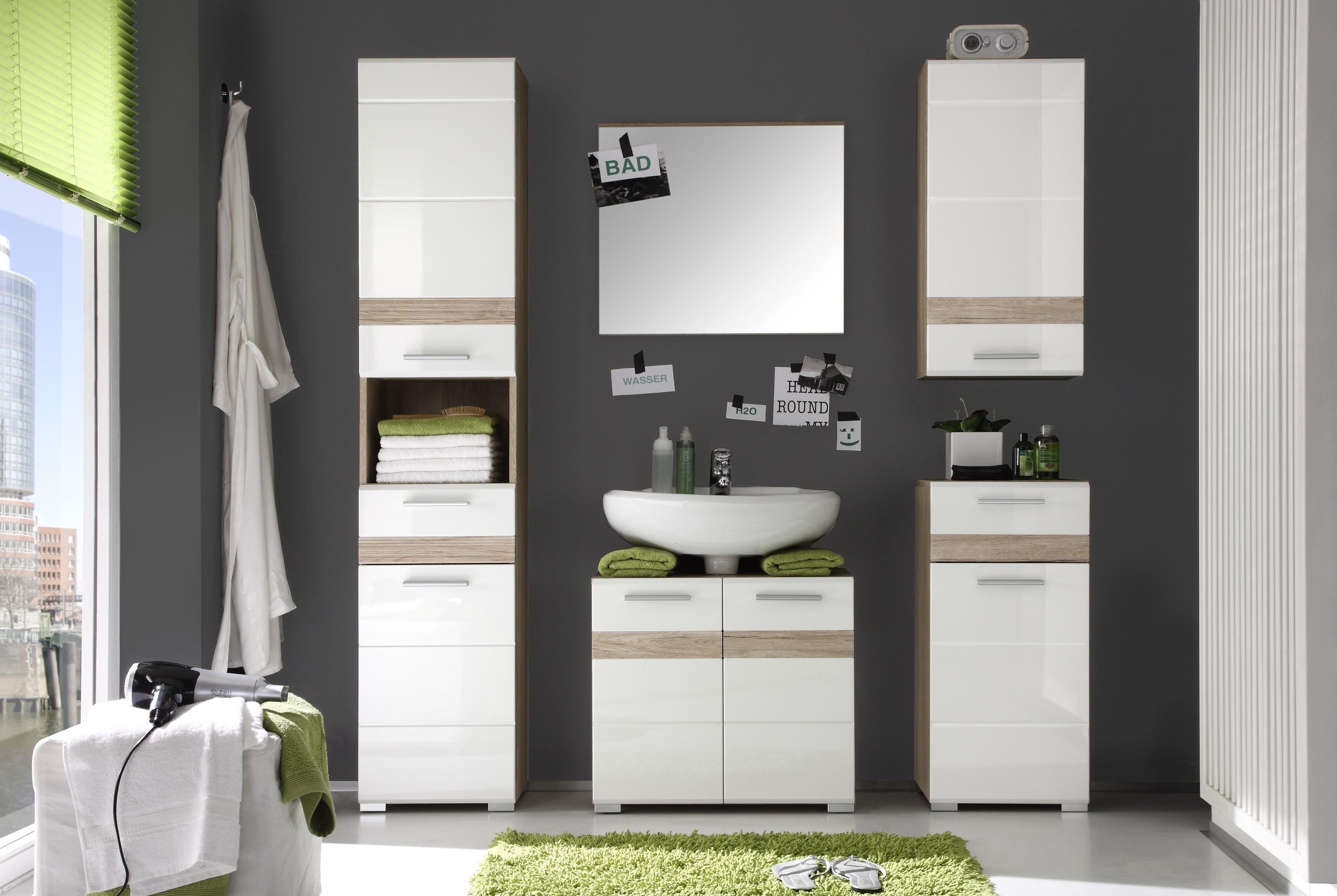 Badezimmerspiegel Alexia Eiche Optik