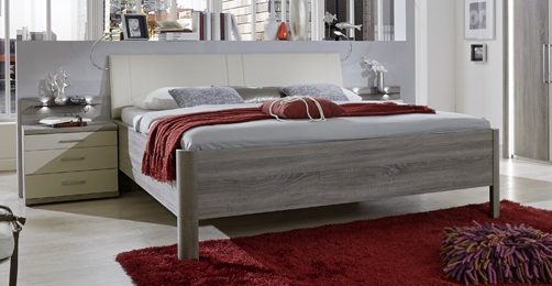 Doppelbett Delina in Trüffeleiche 180 x 210 cm