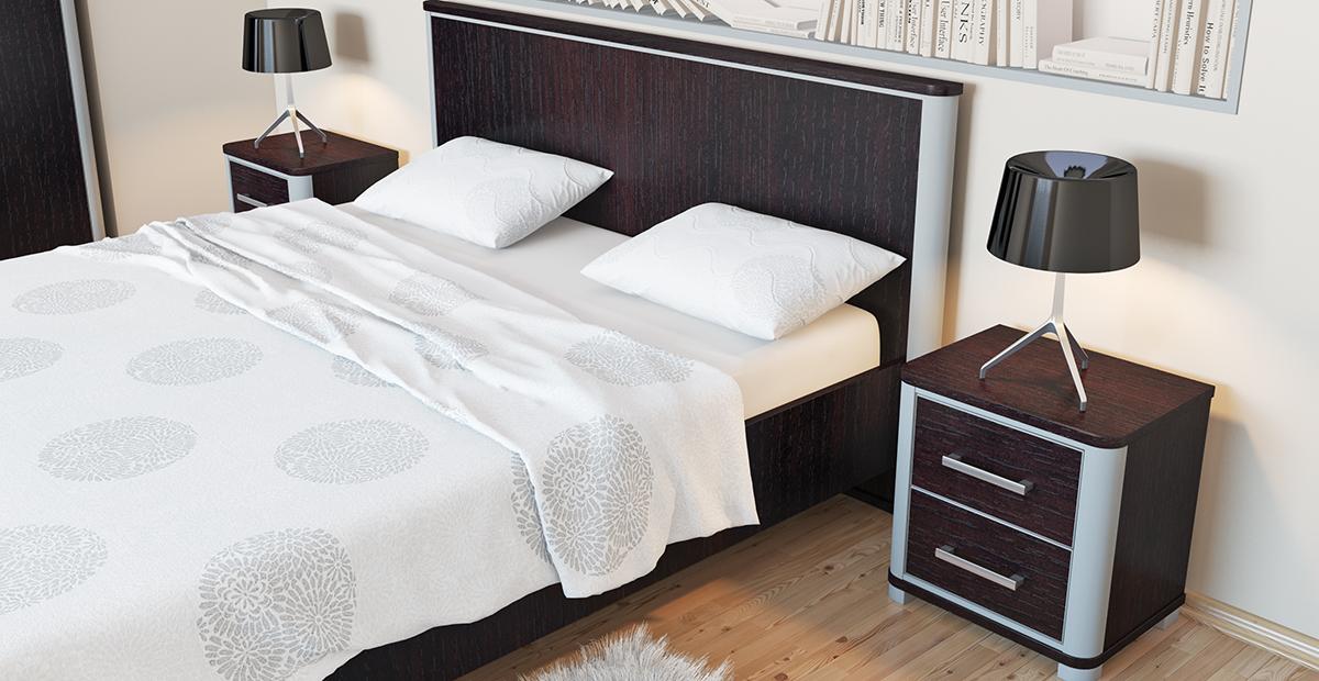 Bett mit Lattenrost Eiche Niagara Optik Naomi 160x200