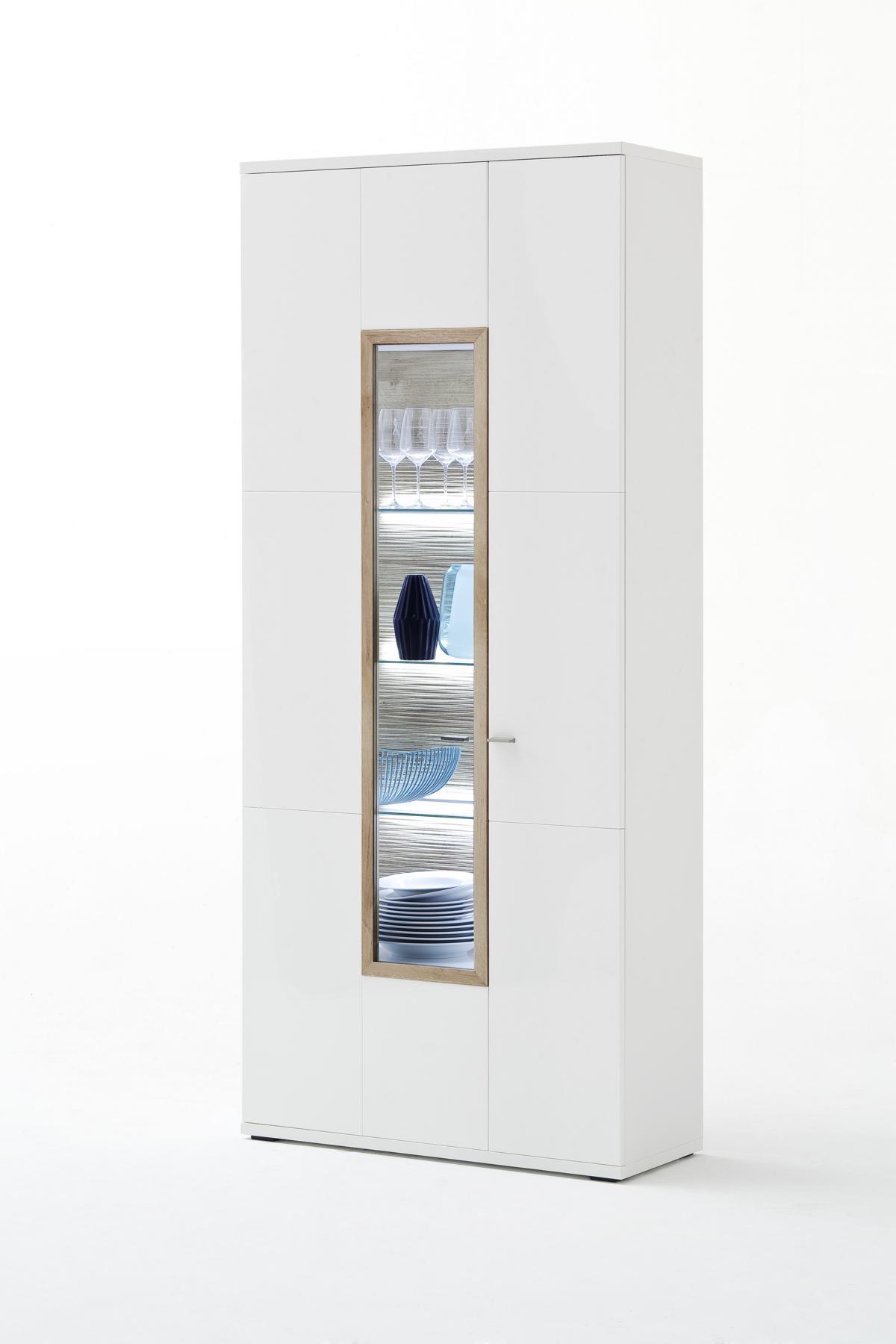 Pala Vitrine mit 2 Türen 90x207x37