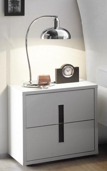 Meer Schlafzimmerset One 4-teilig in Weiß mit Anthrazit