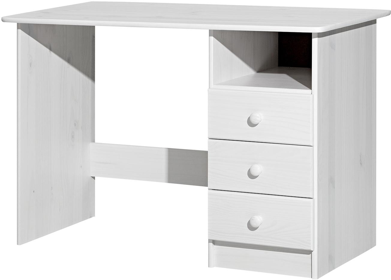 Paola Schreibtisch 110x54 Kiefer Weiß