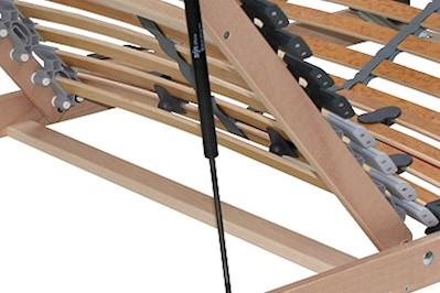 7 Zonen Lattenrost Rolly verstellbar und aufklappbar 140x200cm