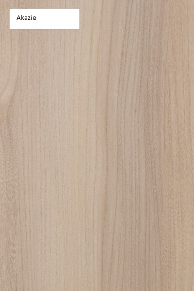 Schwebendes Bett Rielle Akazie 100x200 Kopfteil rechts