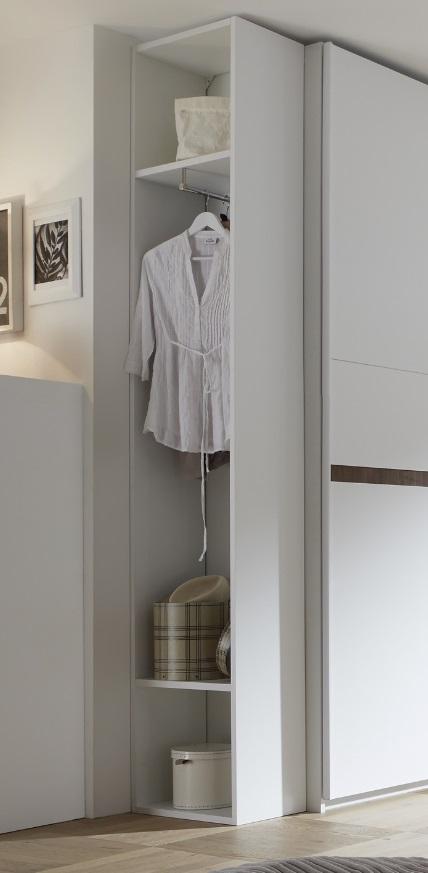 Garderobenregal Luana in Weiß matt 218 cm hoch