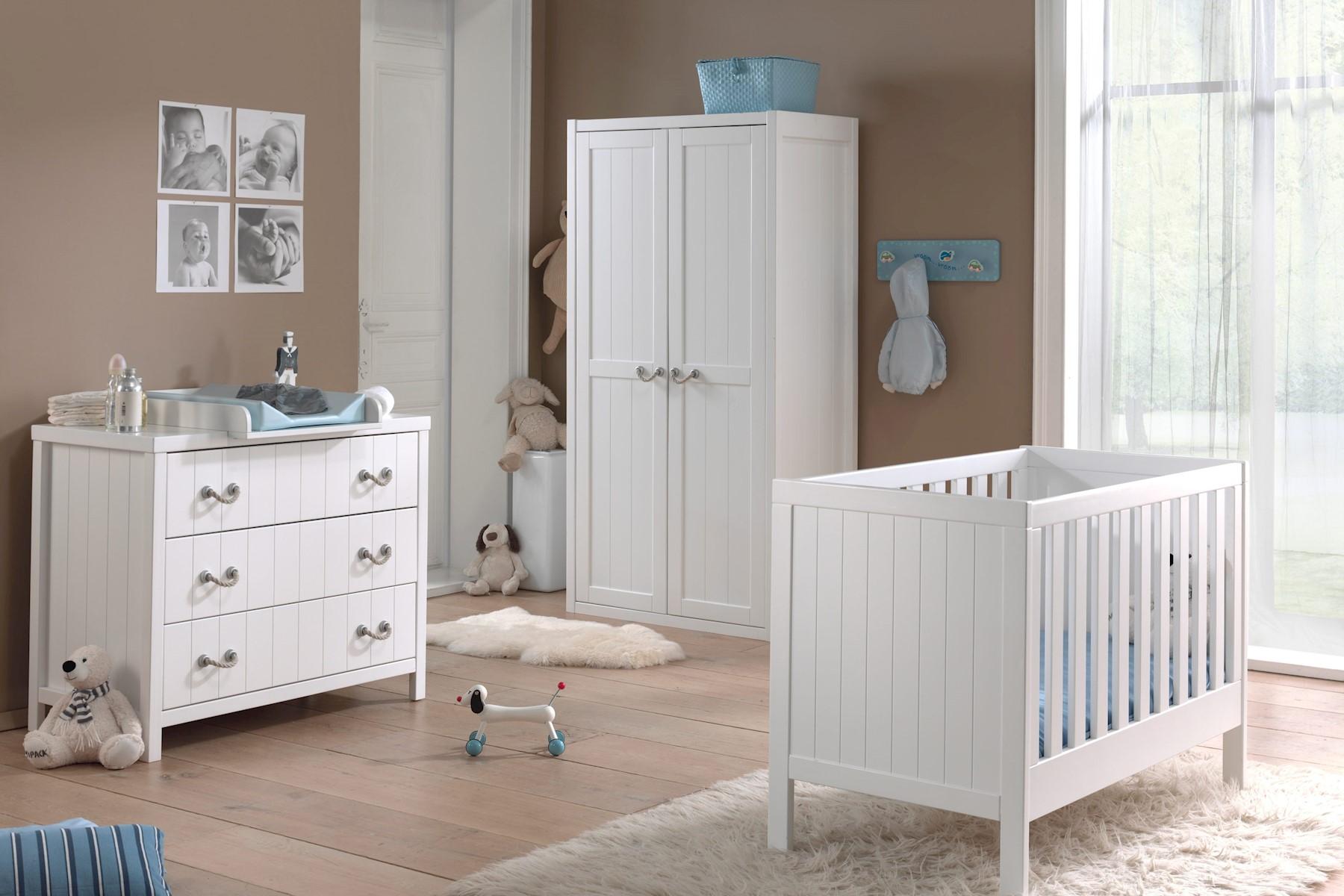 Babyzimmer Set Iny 4-teilig in Weiß MDF