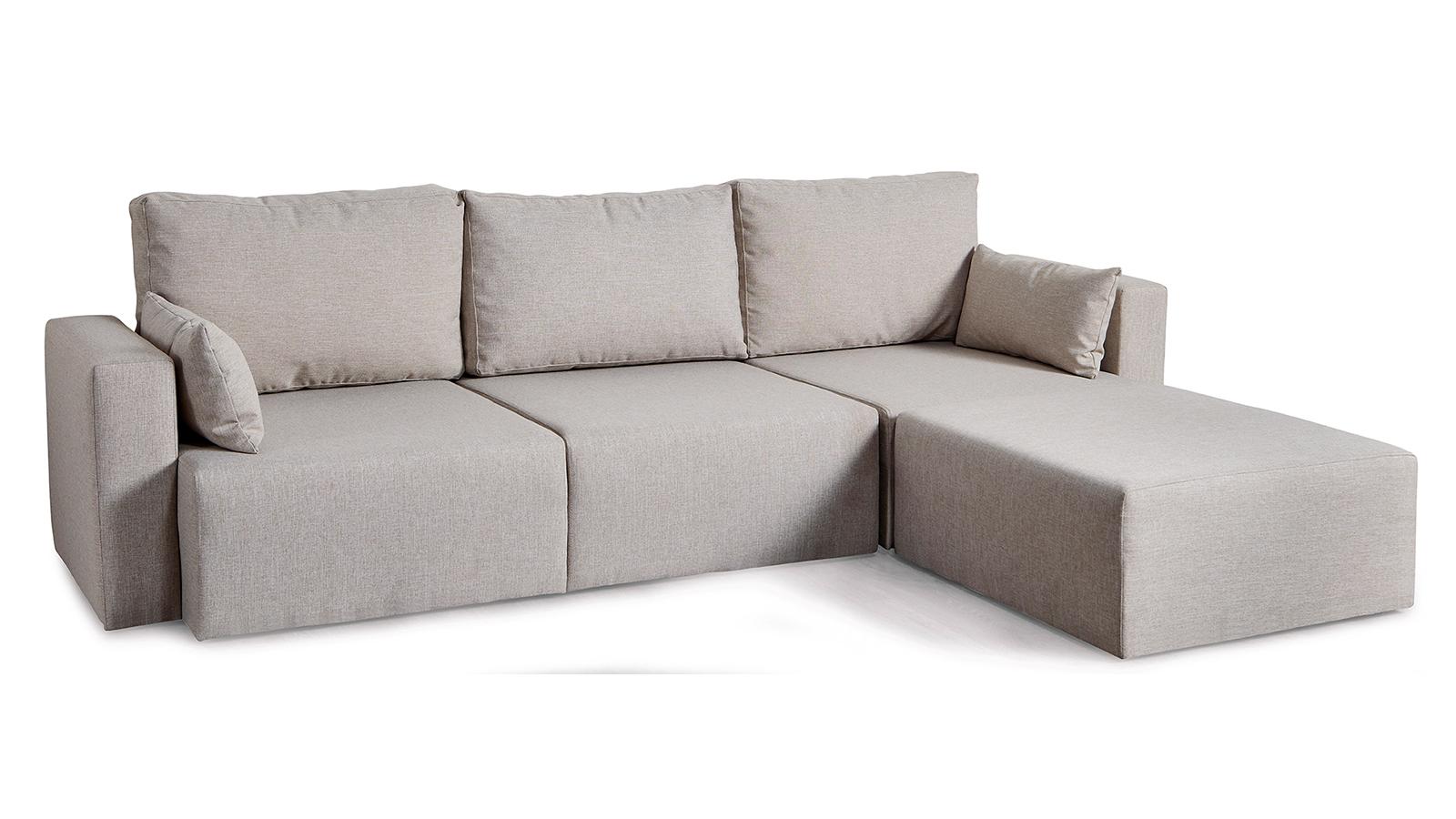 Multimo Sofa 3-Sitzer mit Sitzhocker & Kissen Royals