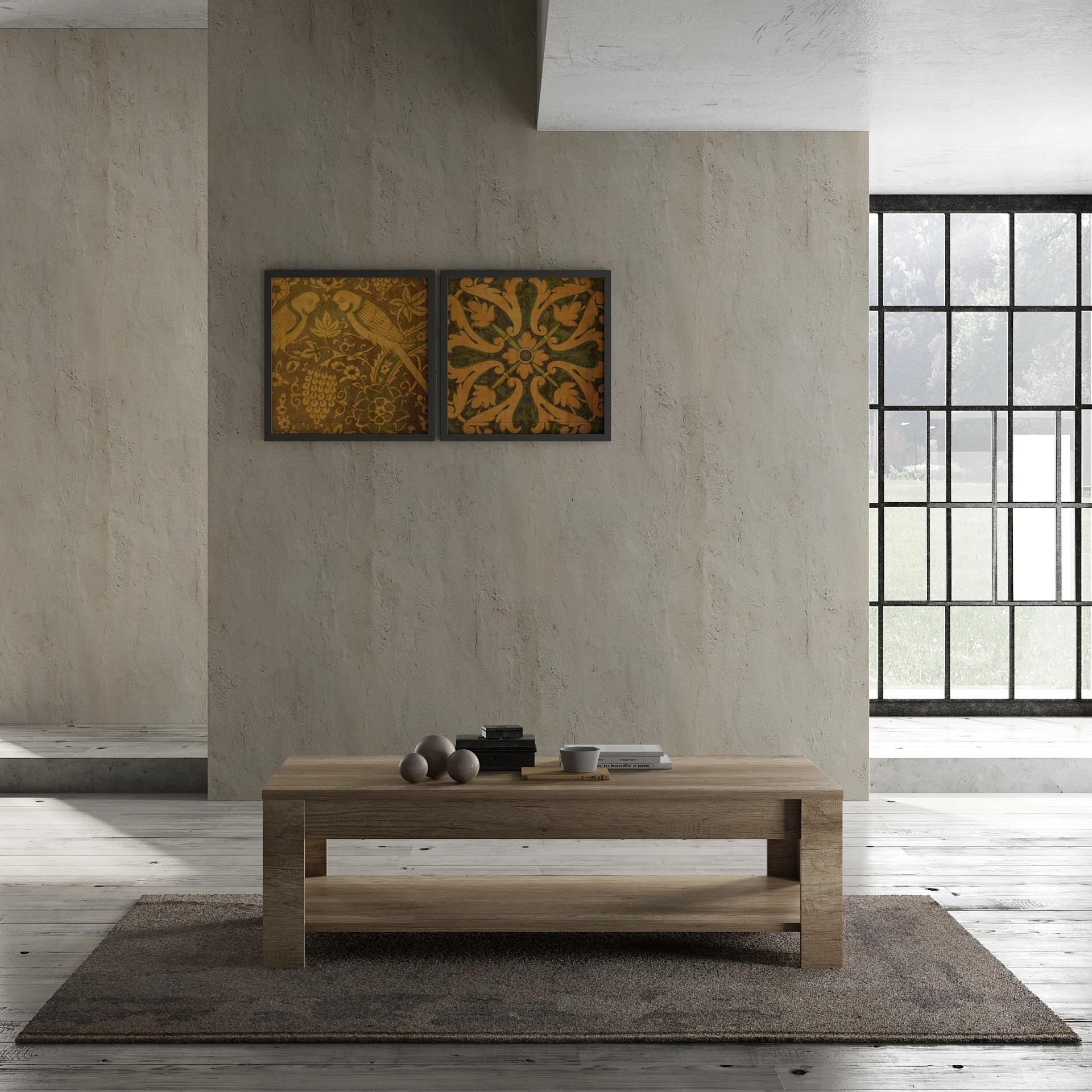 Italien Design Couchtisch in Canyon Oak Grace