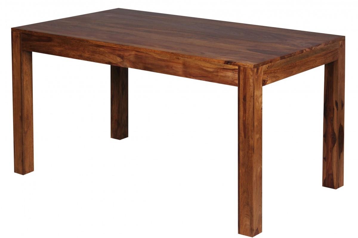 Design Esstisch Massiv 140 x 80 x 76 cm Sheesham Massivholz