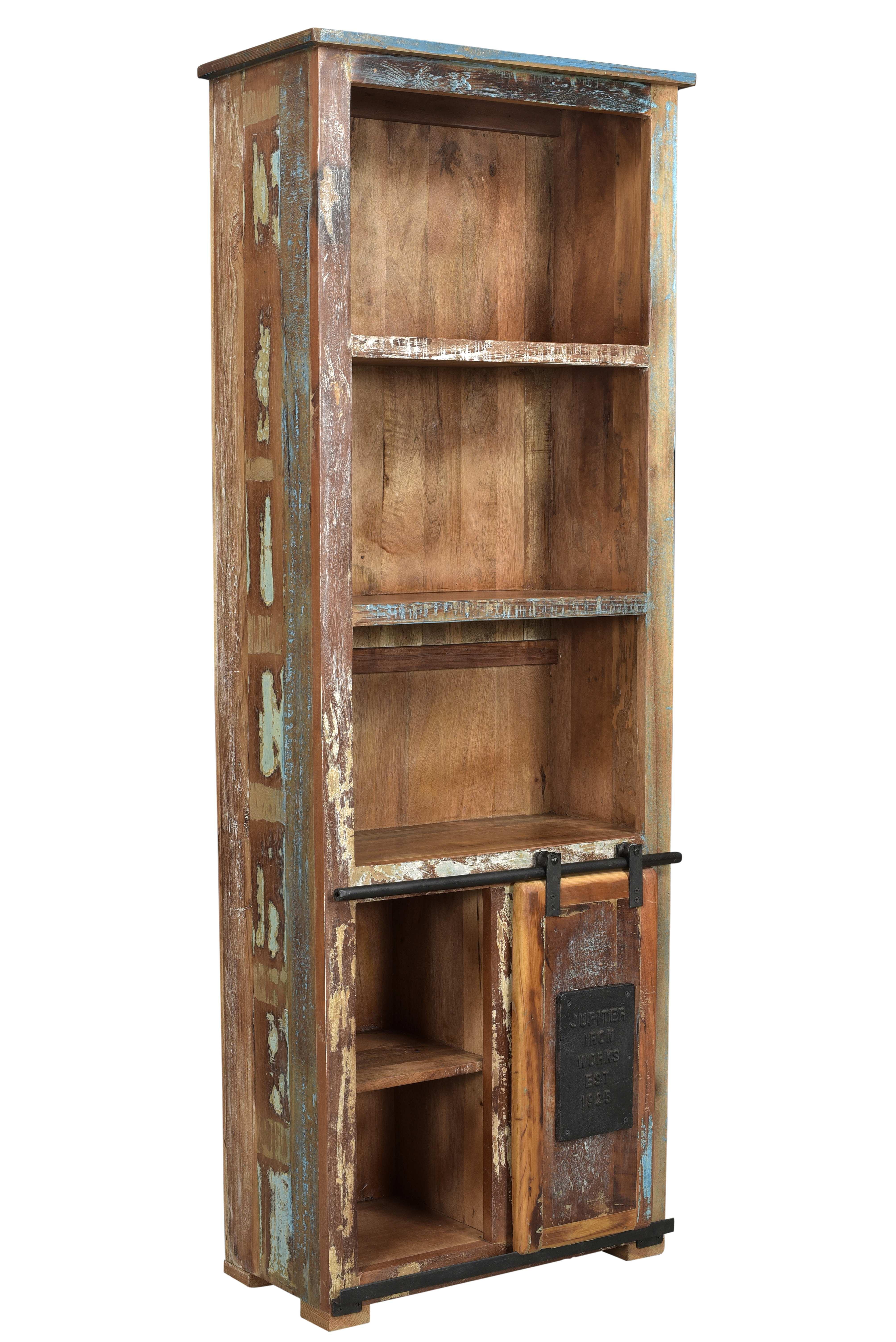 Sit Jupiter Bücherregal mit Schiebetüre Altholz