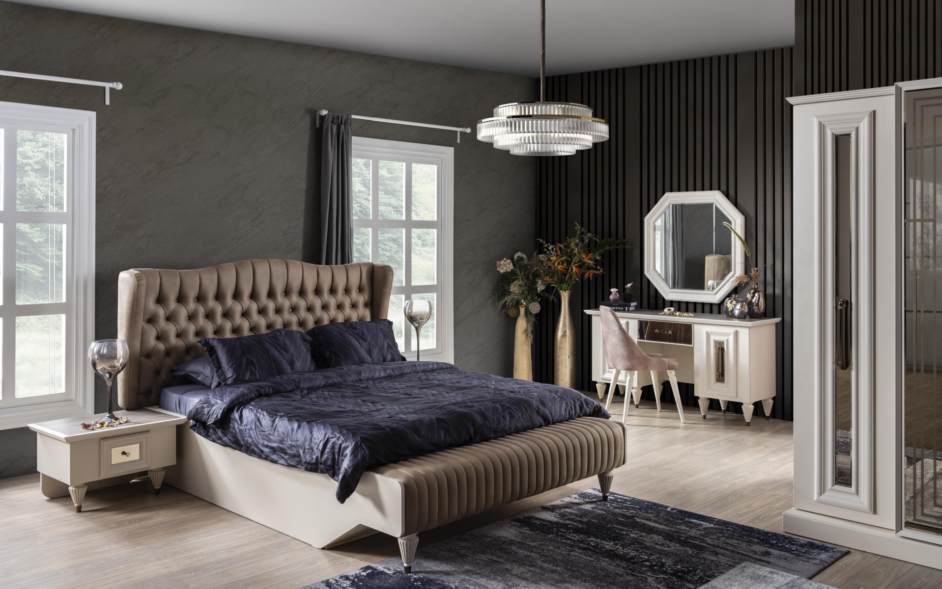 Weltew Schlafzimmer 180x200 cm Nirvana Creme