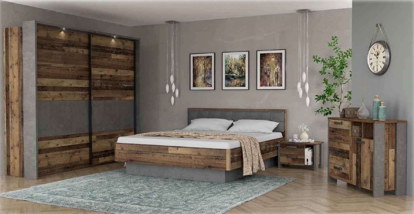 Schlafzimmer Set Cleo 4-teilig 220x211