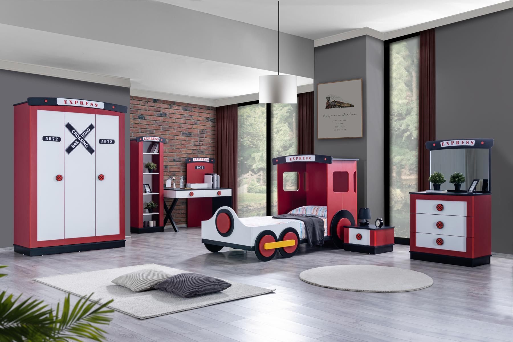 Odacix Kinderzimmer Express 6-teilig Lokomotiven Design