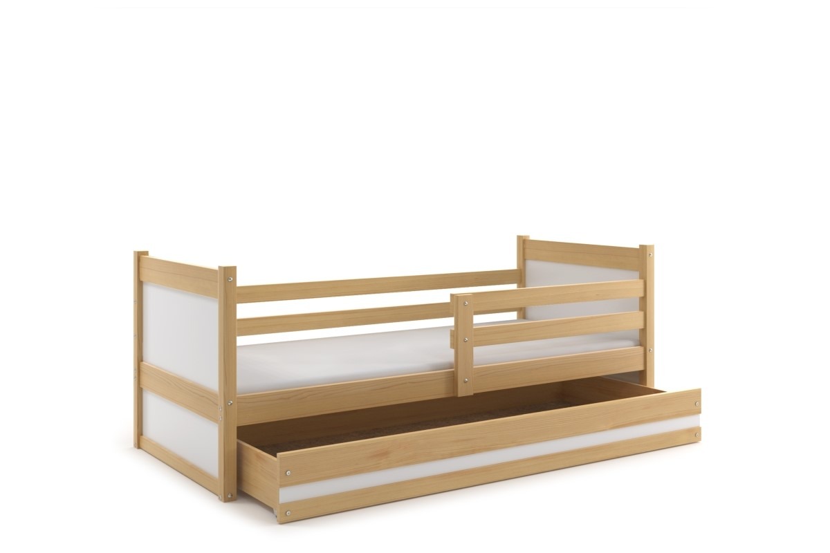 Kinderbett Joko in Kiefer mit Bettkasten 80x190