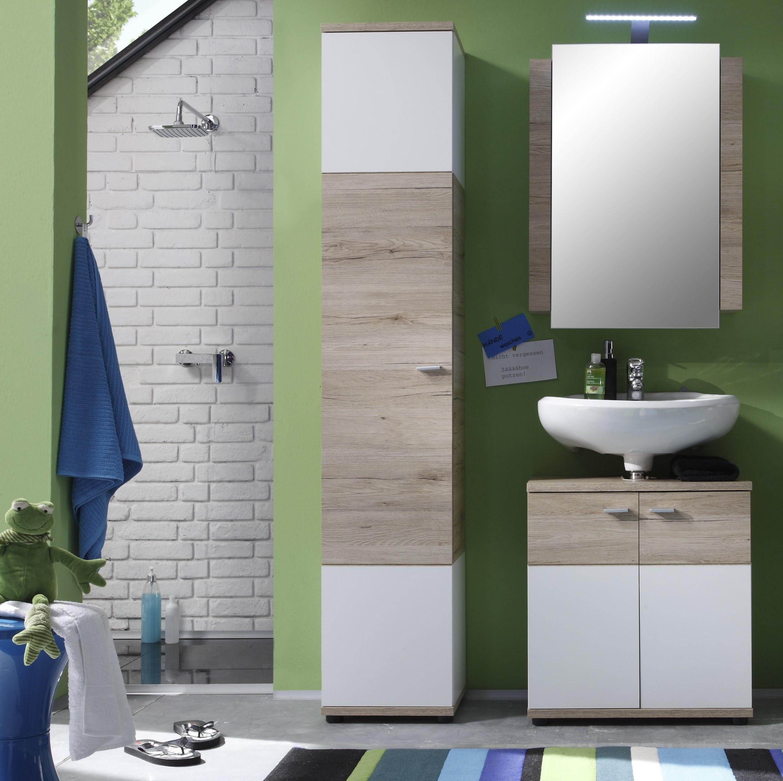 Badezimmer Set Rikke 3-teilig in Eiche San Remo