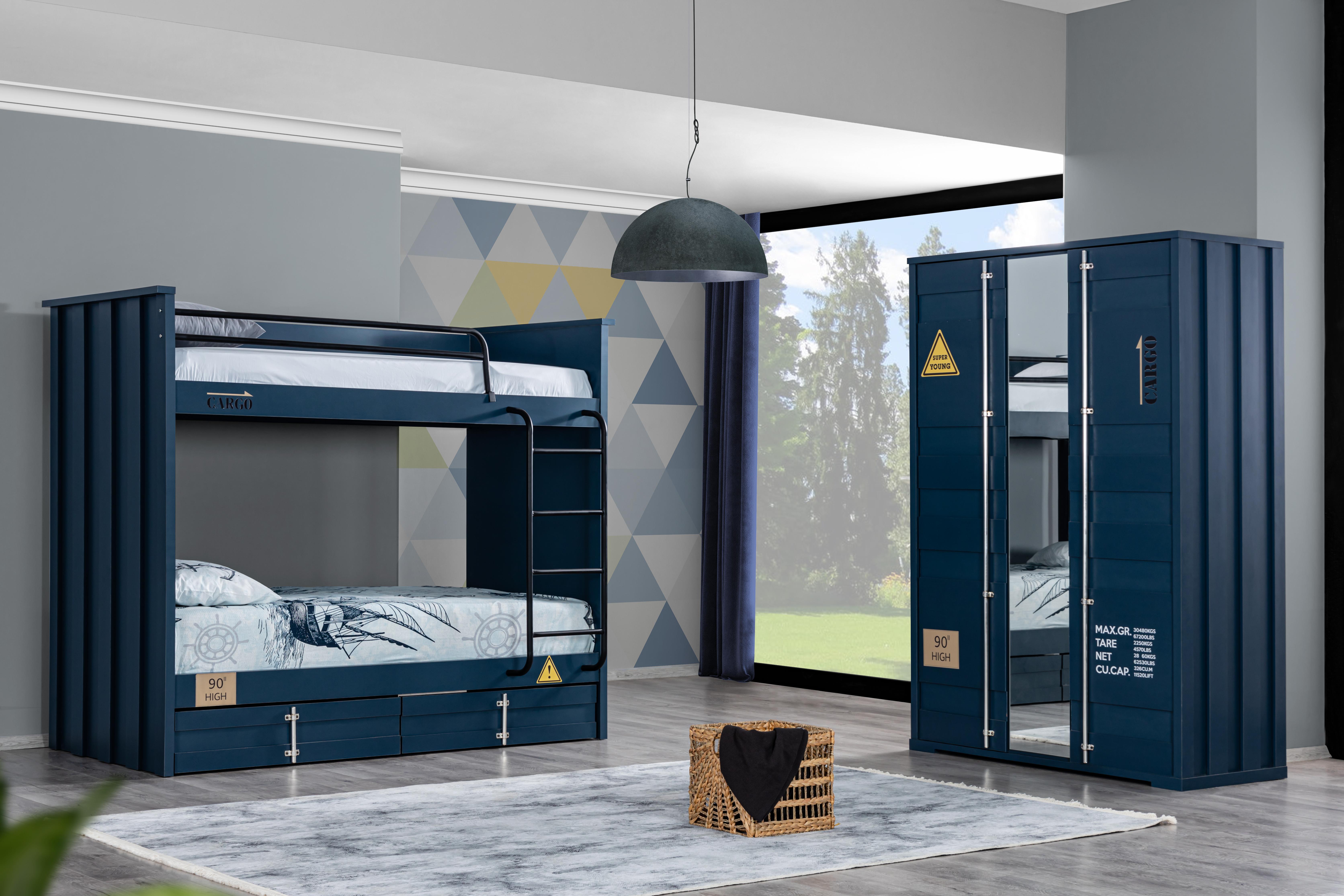 Odacix Jugendzimmer Set Container 2-teilig Blau