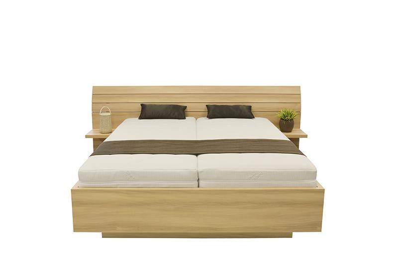 Schwebendes Bett Rielle Breiter Eiche Braun 140x190