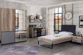 Titi Jugendzimmer Set Corner 5-teilig in 120x200 cm
