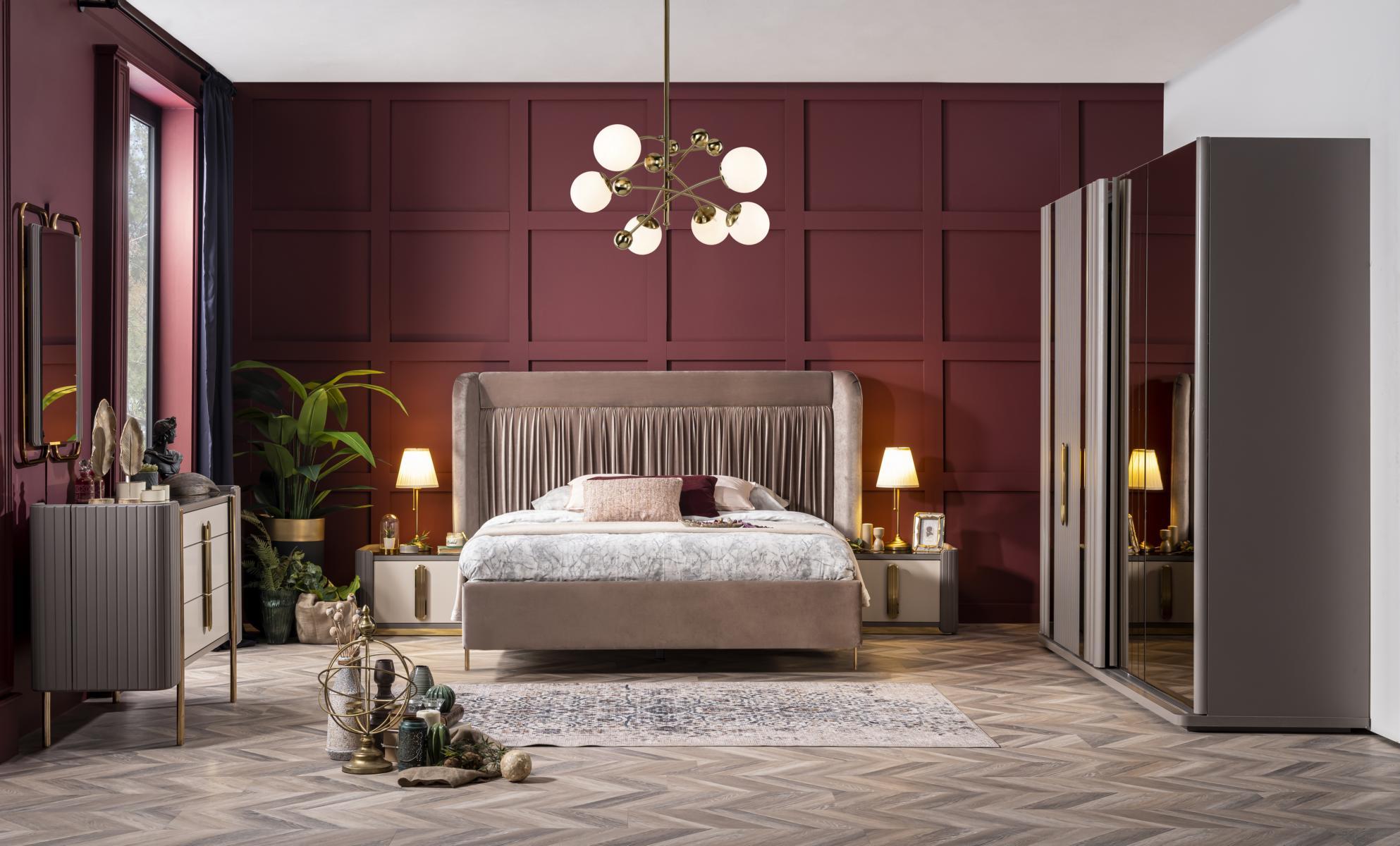 Weltew Schlafzimmer Set Florya 6-teilig 160x200 cm