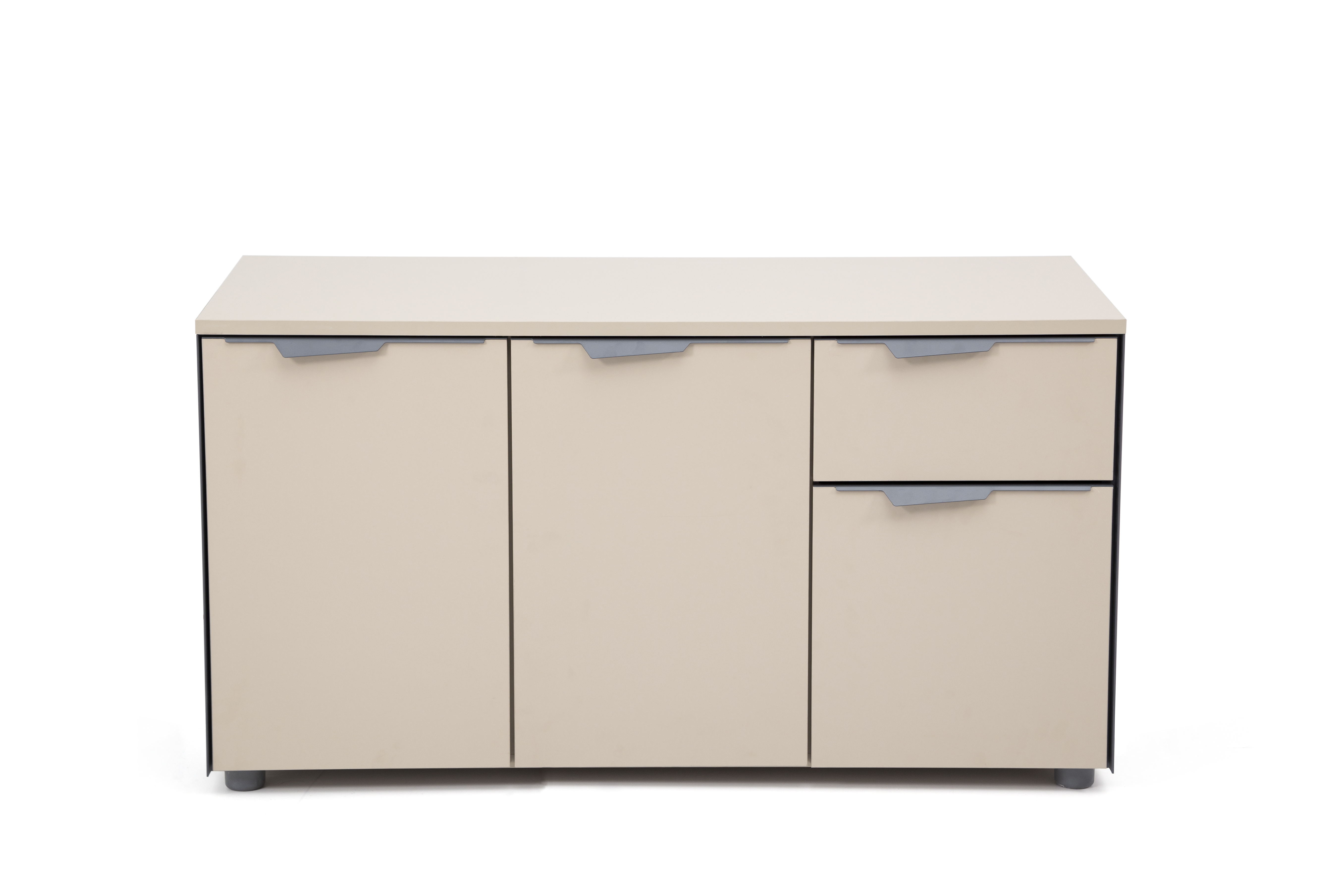 Ovali Büro Sideboard 3-türig Twist L3 Beige Grau