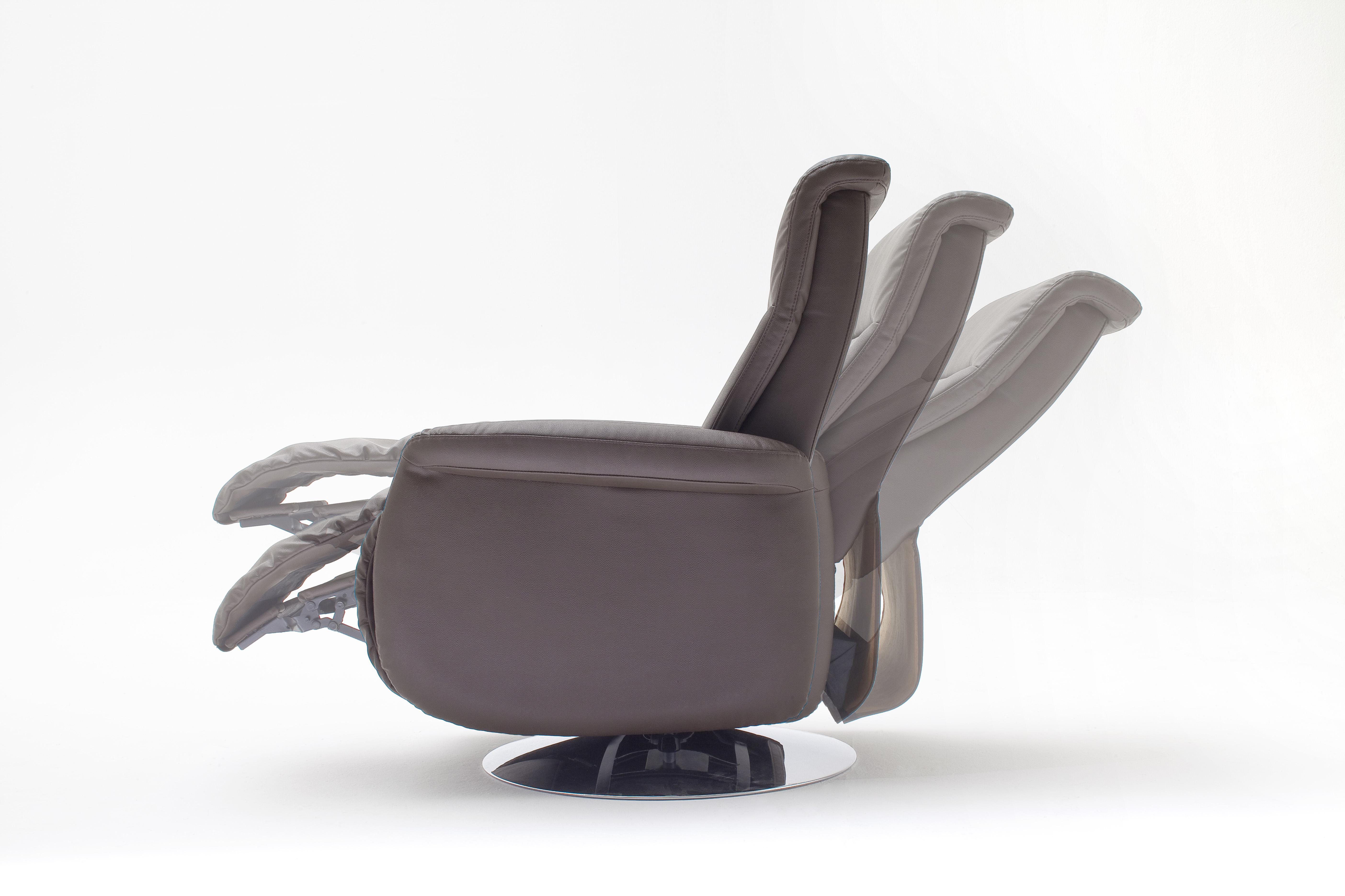 Marra Relaxsessel Rindsleder mit PVC Schwarz