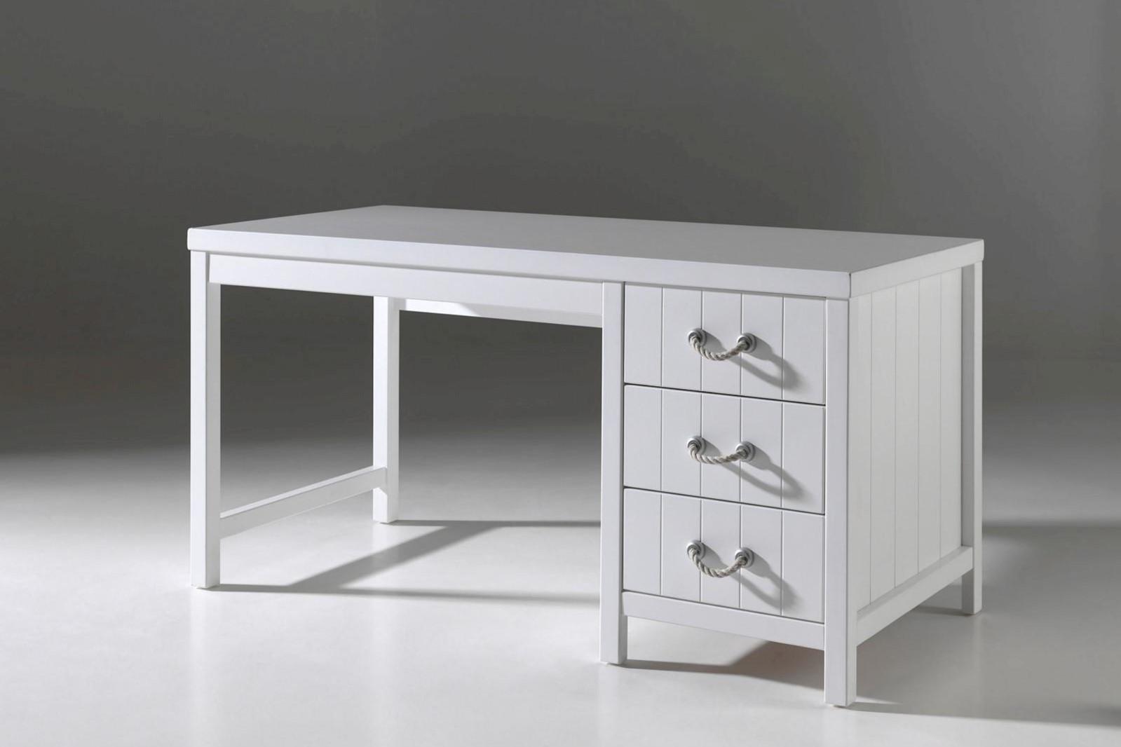 Schreibtisch Set Iny 2-teilig in Weiß MDF