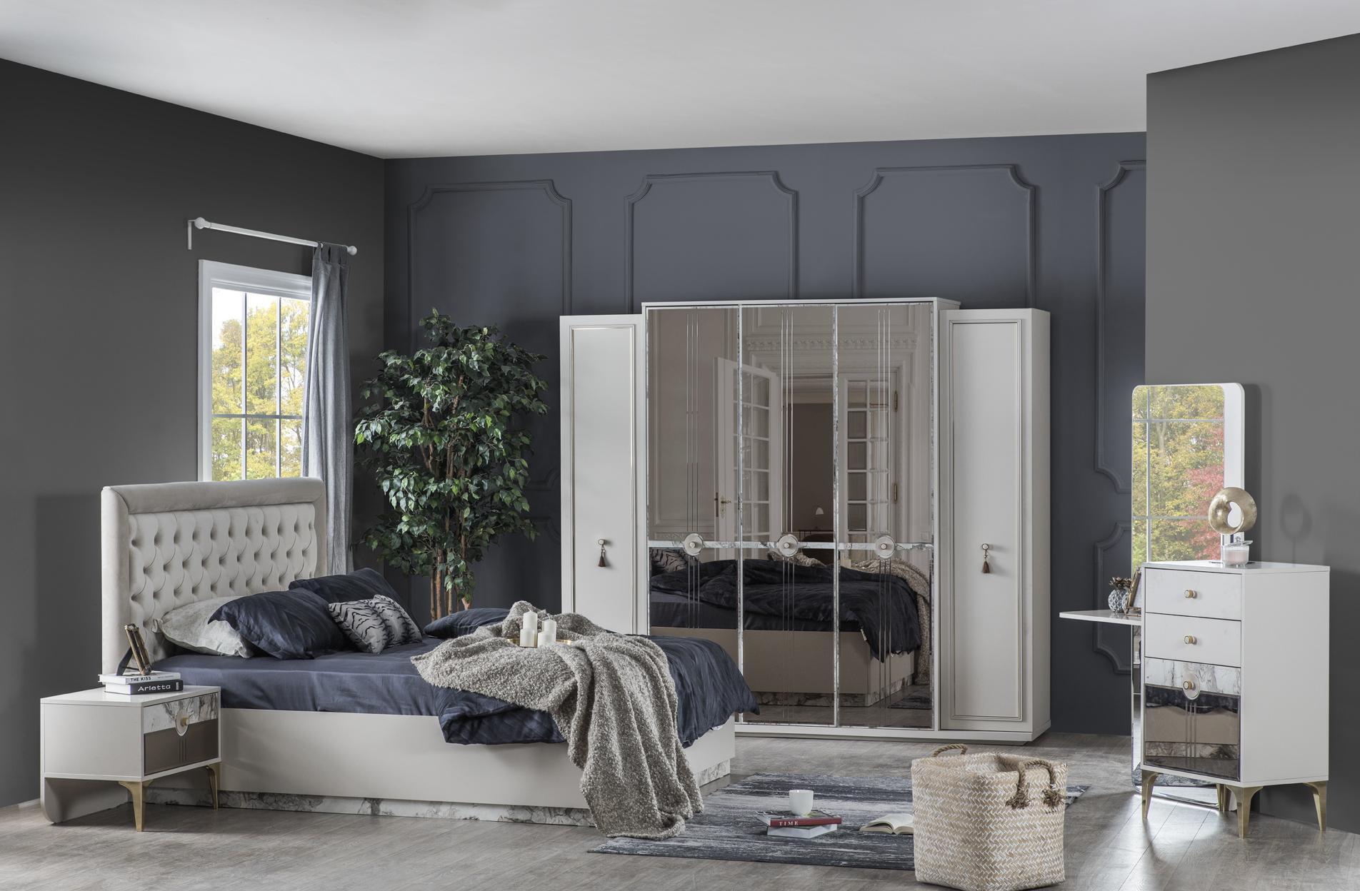 Weltew Schlafzimmer mit Kleiderschrank Camlica
