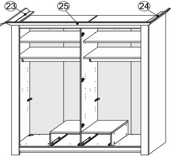 Exor Schlafzimmer- Set Weiß-Terra 4 Türen