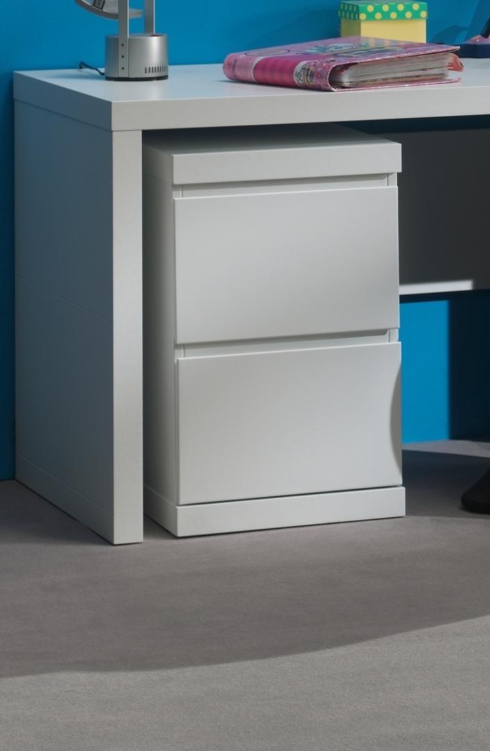 Schreibtisch-Container Saana in Weiß