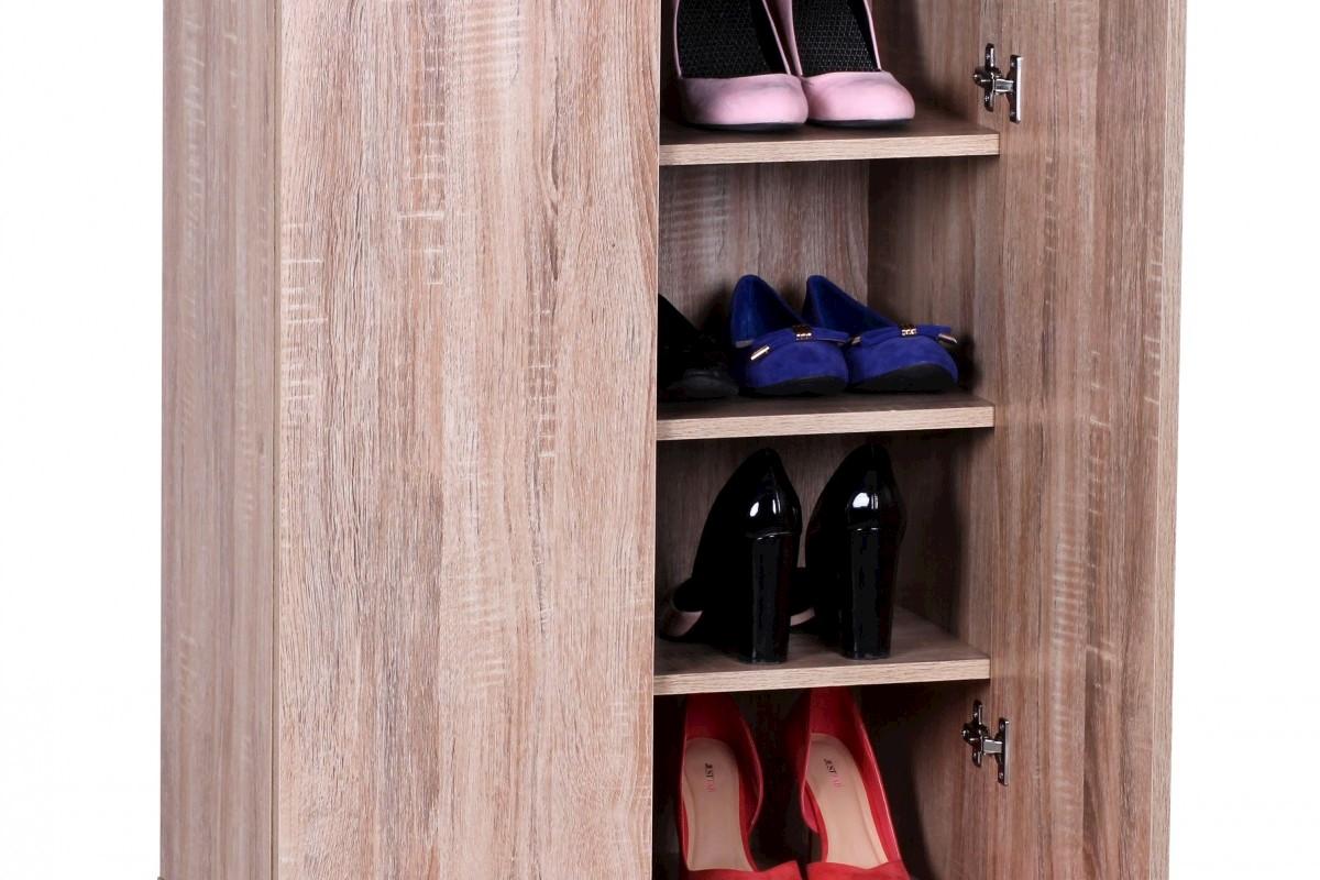 Schuhschrank Sonoma 2-Türig 60x90x35 Holzoptik