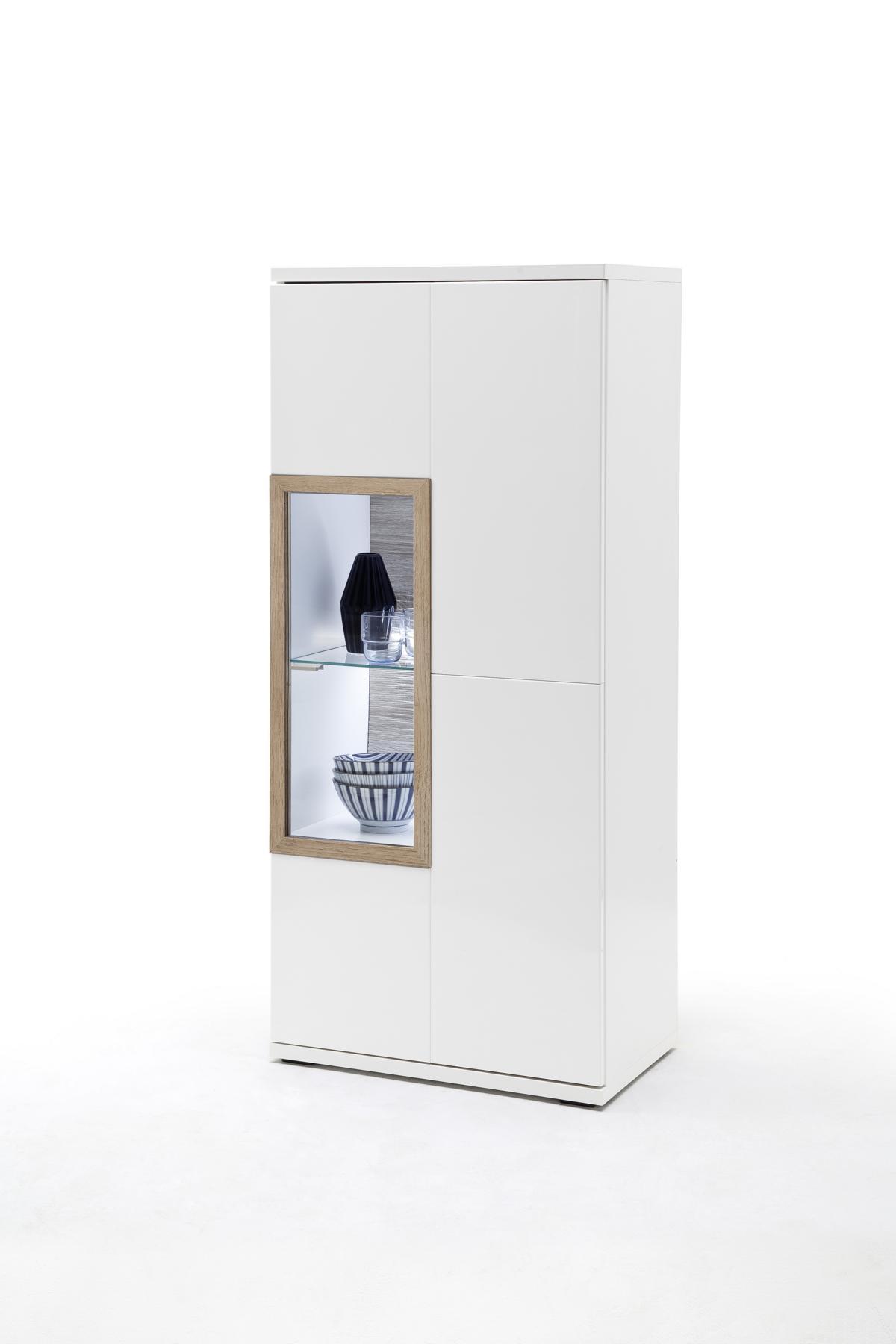 Pala Highboard Stehend / Hängend mit 1 Tür Weiß