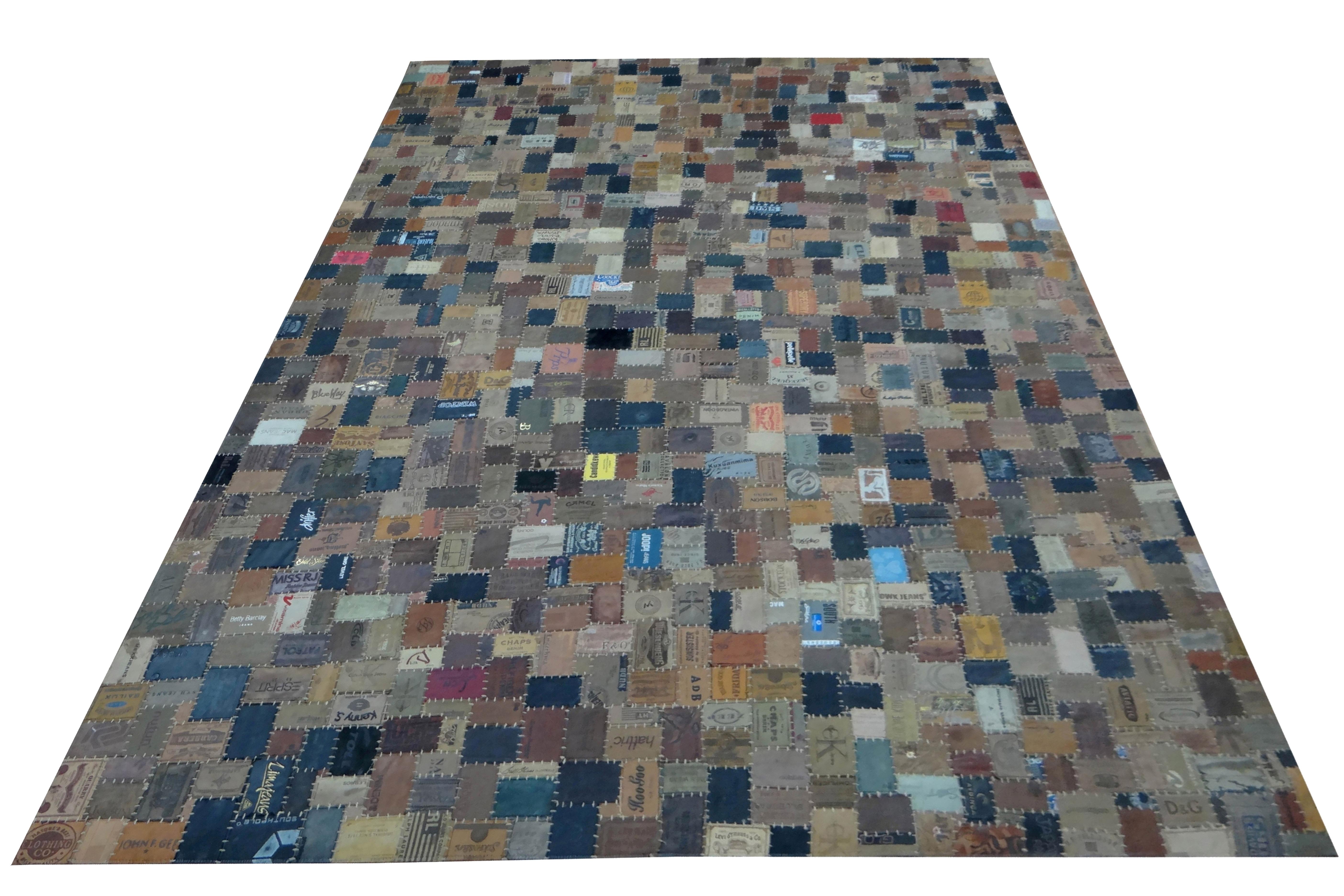 Teppich Bunt Minor aus Denim Labeln