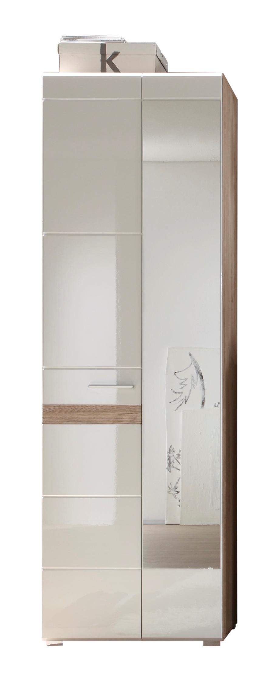 Garderobenschrank Alexia 2-türig Weiß