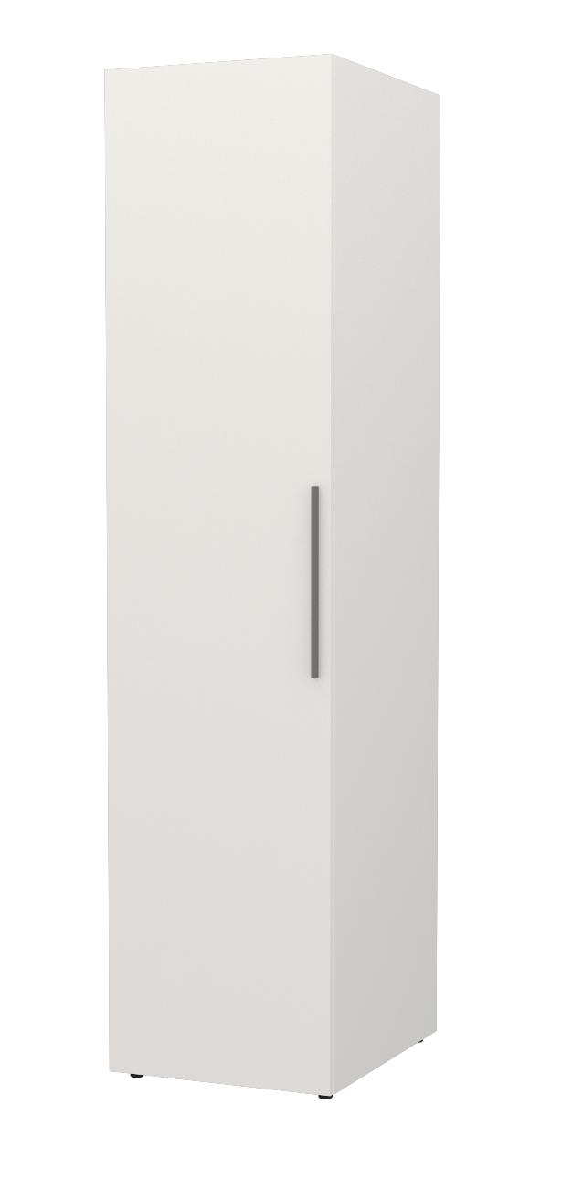 Almila Kleiderschrank Neo 1-türig in Weiß mit LEDs