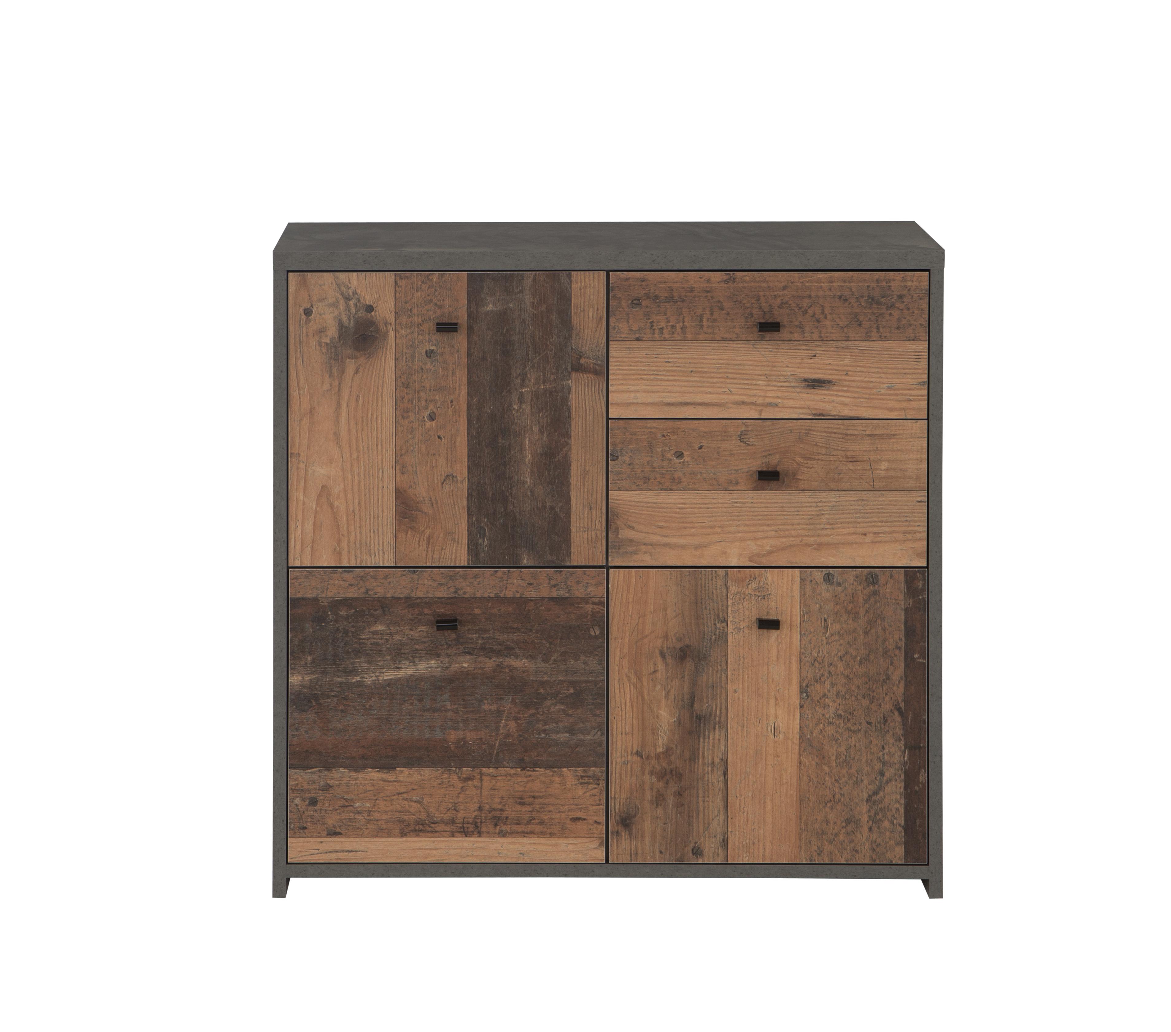Moderne Kommode Beton-Holz Optik Chesto
