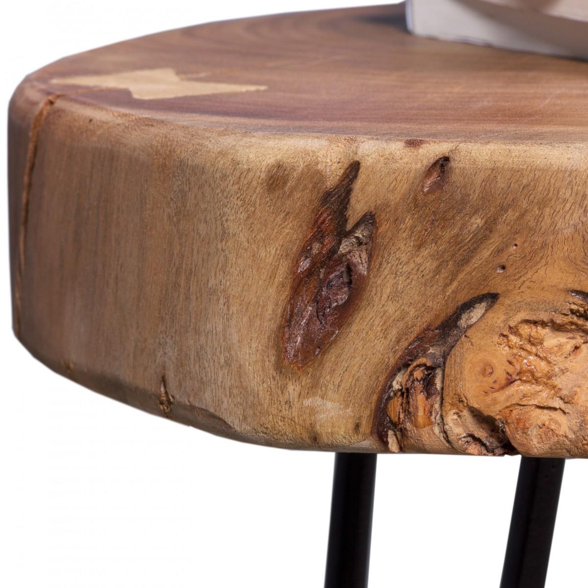 Massivholz Akazie Beistelltisch 35 x 35 cm