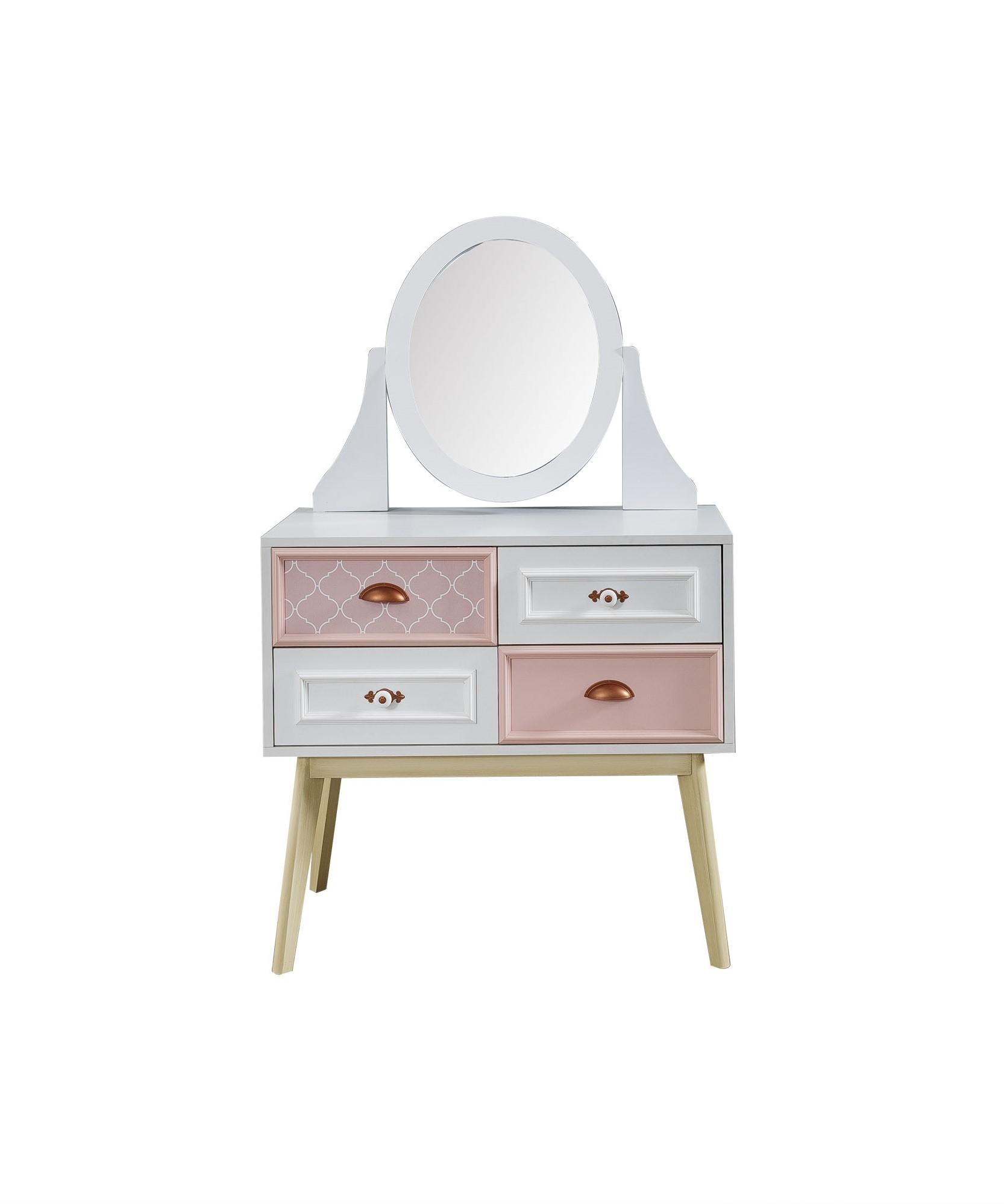 Titi Retro Kommode Diane inklusive Spiegelaufsatz