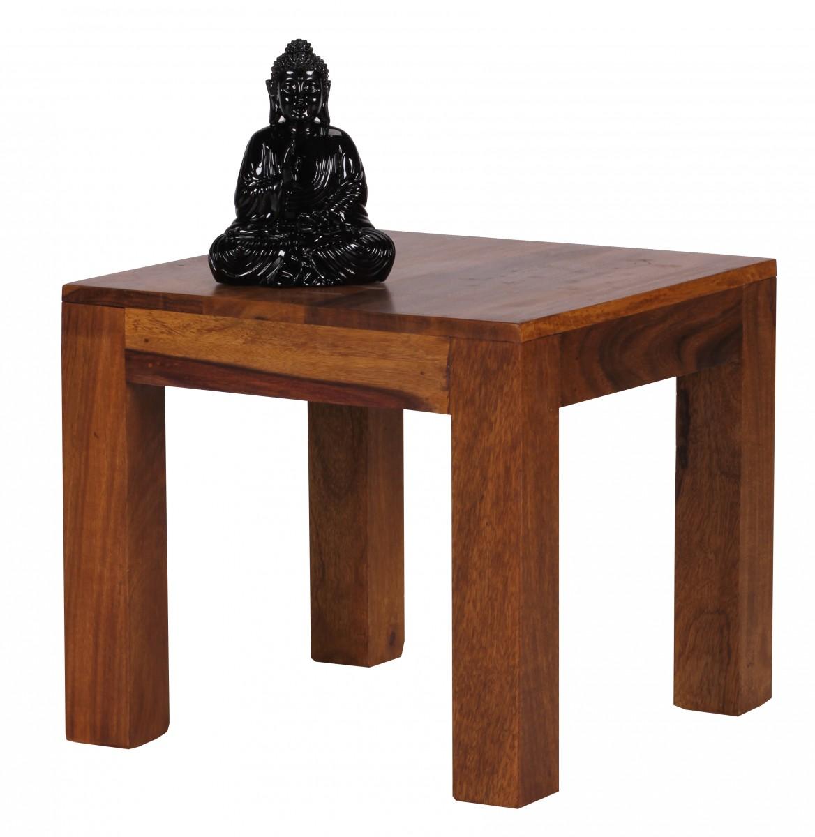 Sheesham Couchtisch Massiv 45 x 45 cm Massivholz