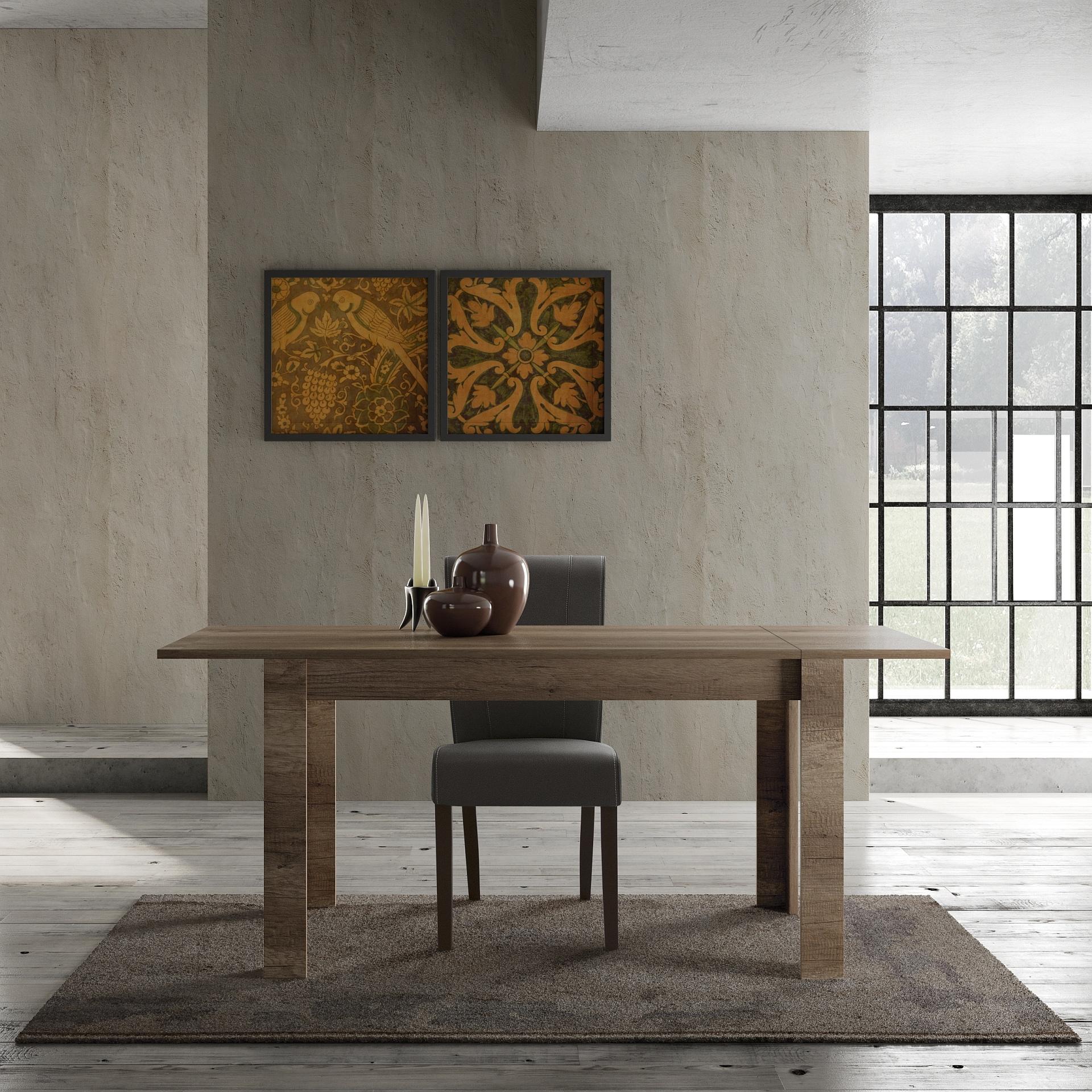 Esszimmertisch Canyon Oak Grace mit Ansteckplatte
