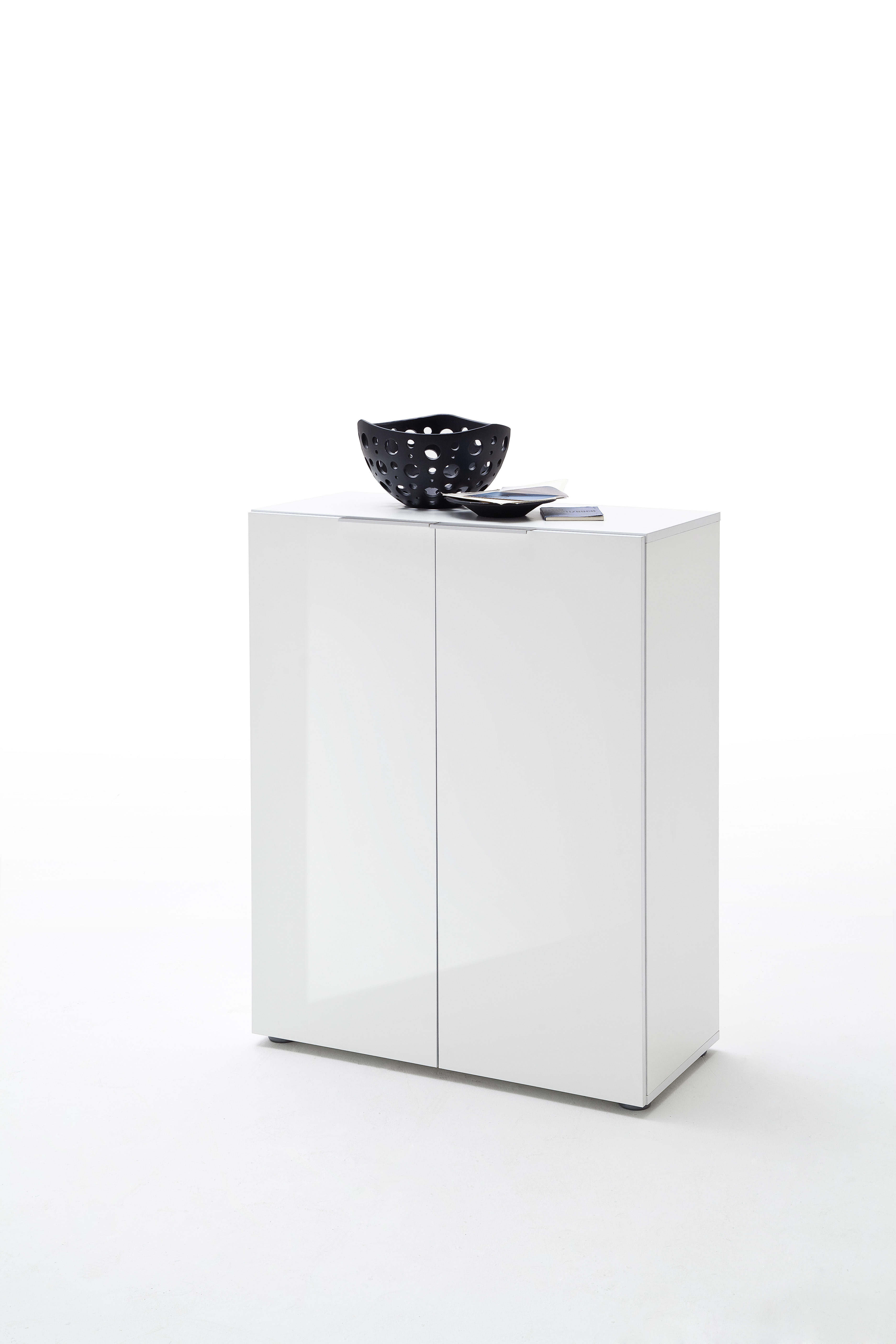 Schuhschrank Vini Weiß Hochglanz mit 2 Türen