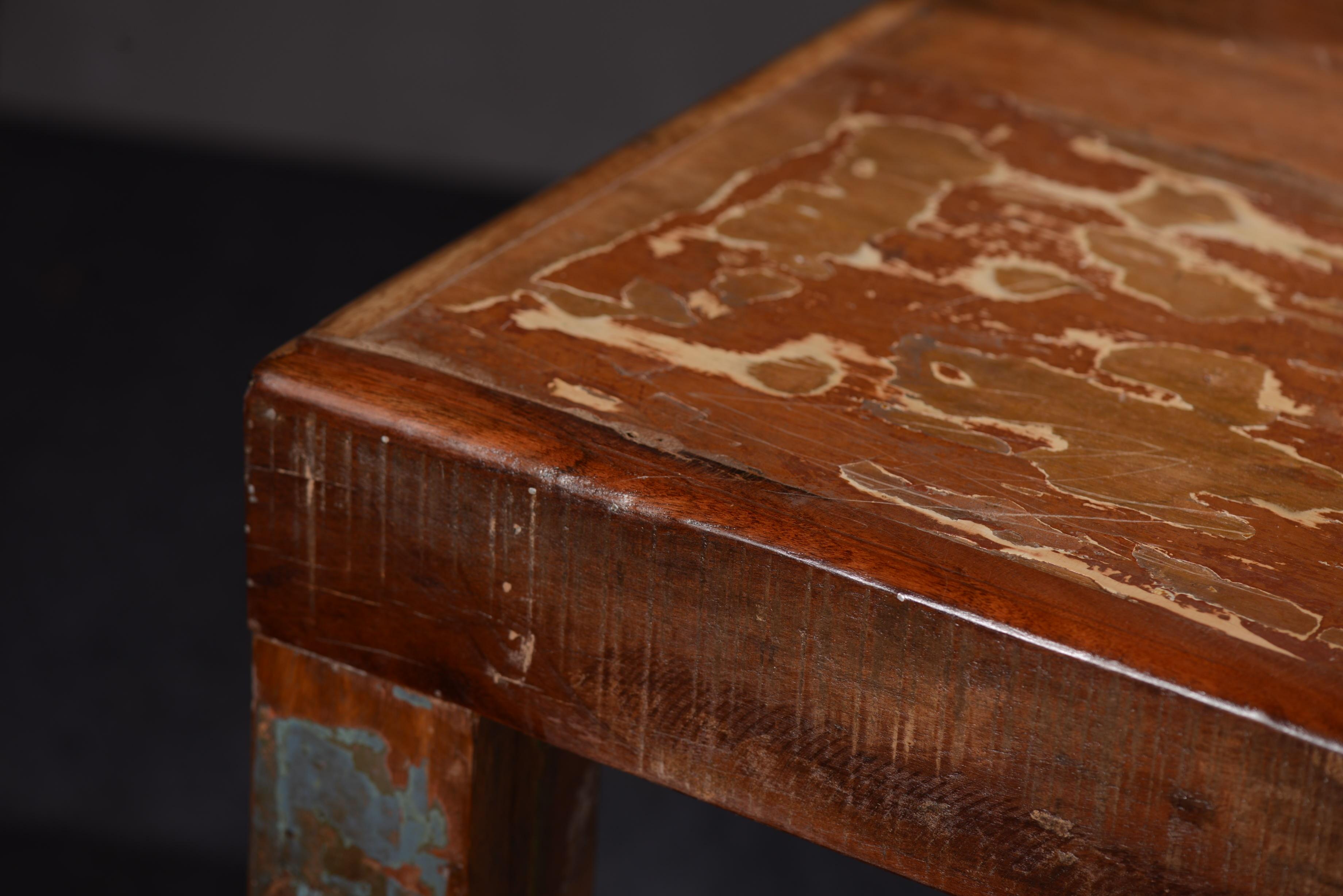 Sit Fridge Esstisch aus buntem Altholz 140x90
