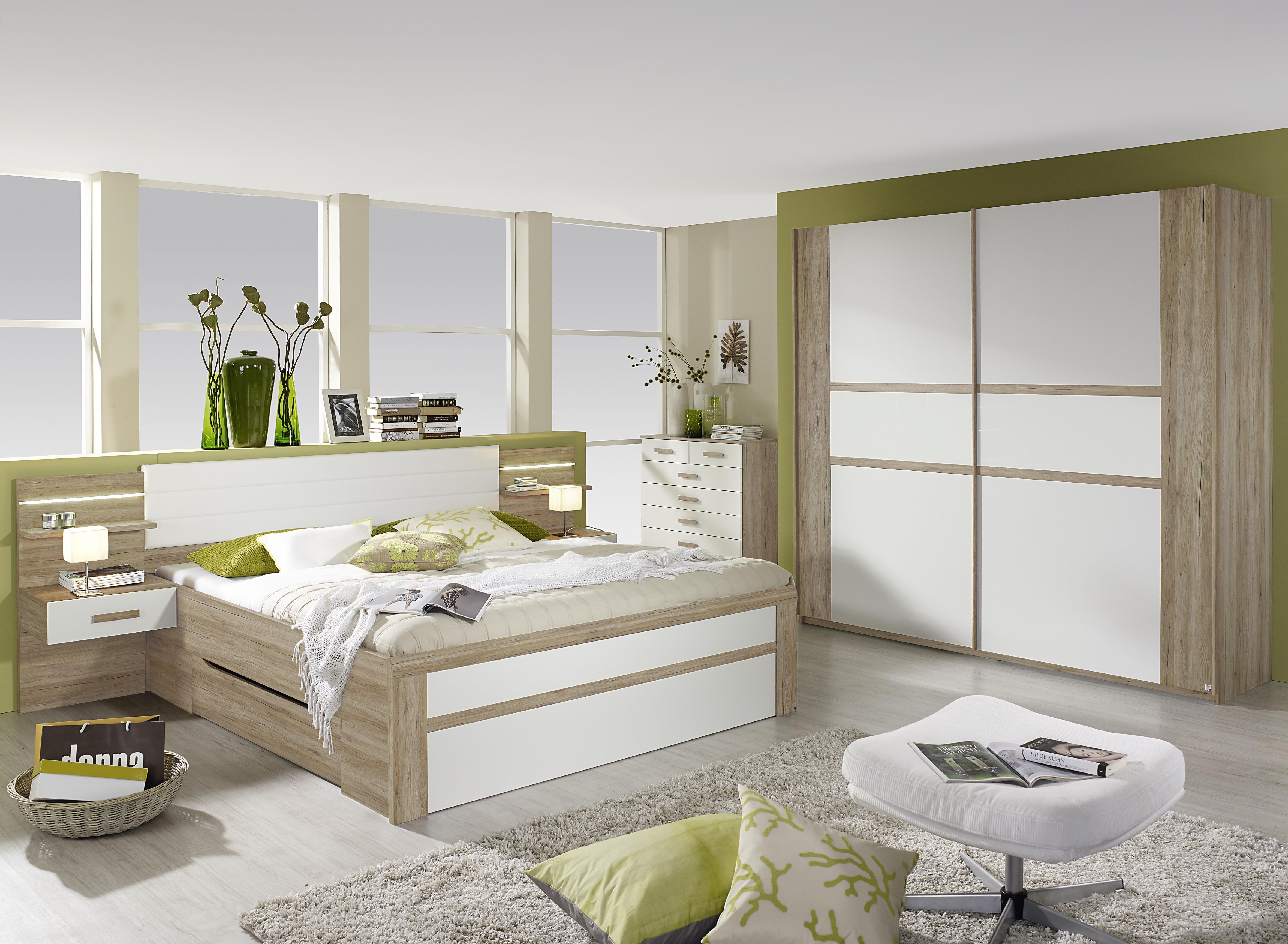 Schlafzimmer Set Eiche Sanremo Bernau 2-teilig