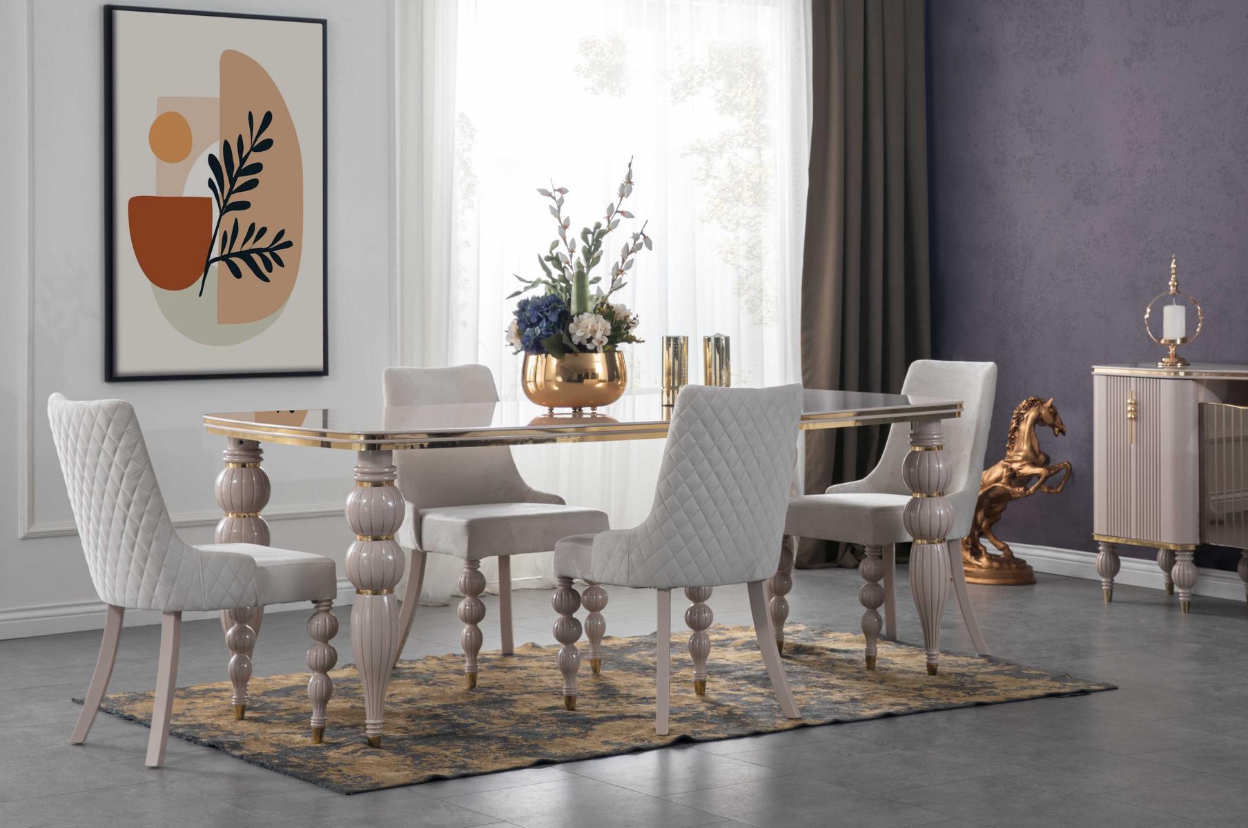 Lidya Esszimmertisch mit vier Stühlen Pemi