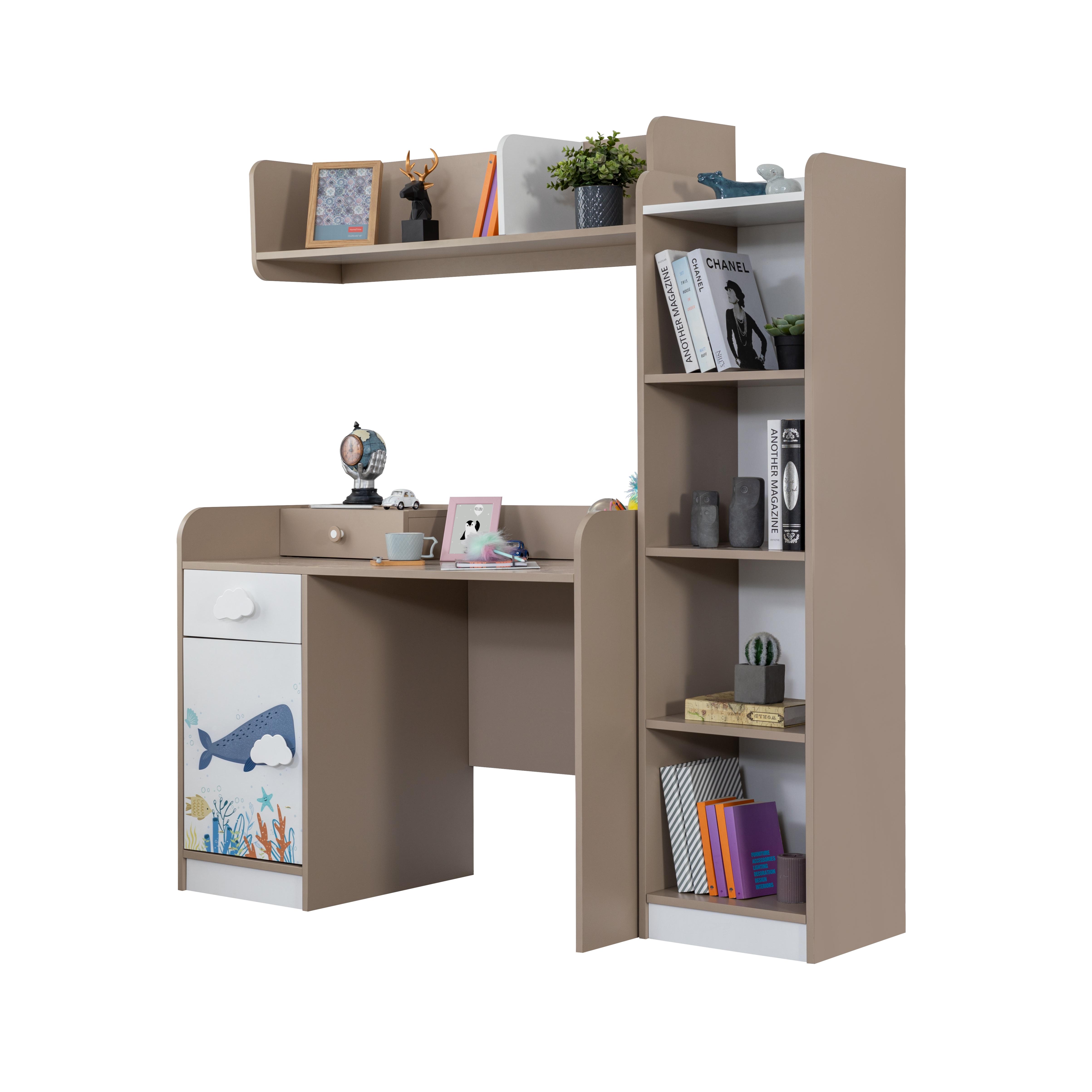 Titi Schreibtisch Kombi Ocean mit Bücherregal