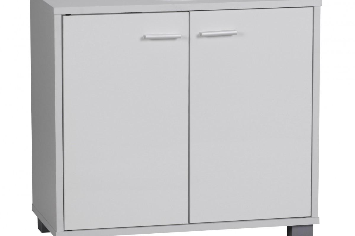 Waschbeckenunterschrank Bad mit 2 Türen weiß