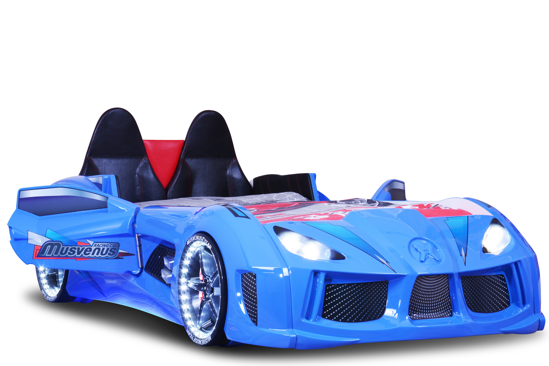Autobett MVN Bumer mit Sportsitzen + Türen Blau