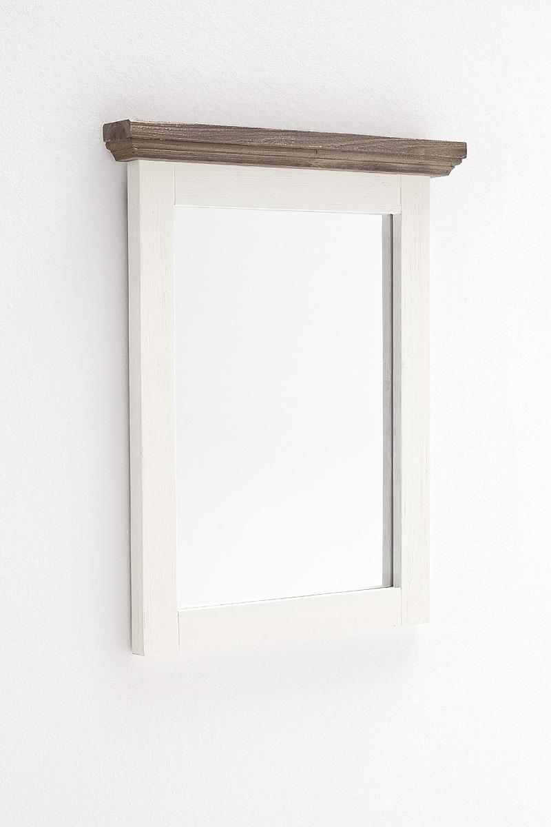 Seona Spiegel 80x75x5 Vertikal in weiß lackierter Akazie