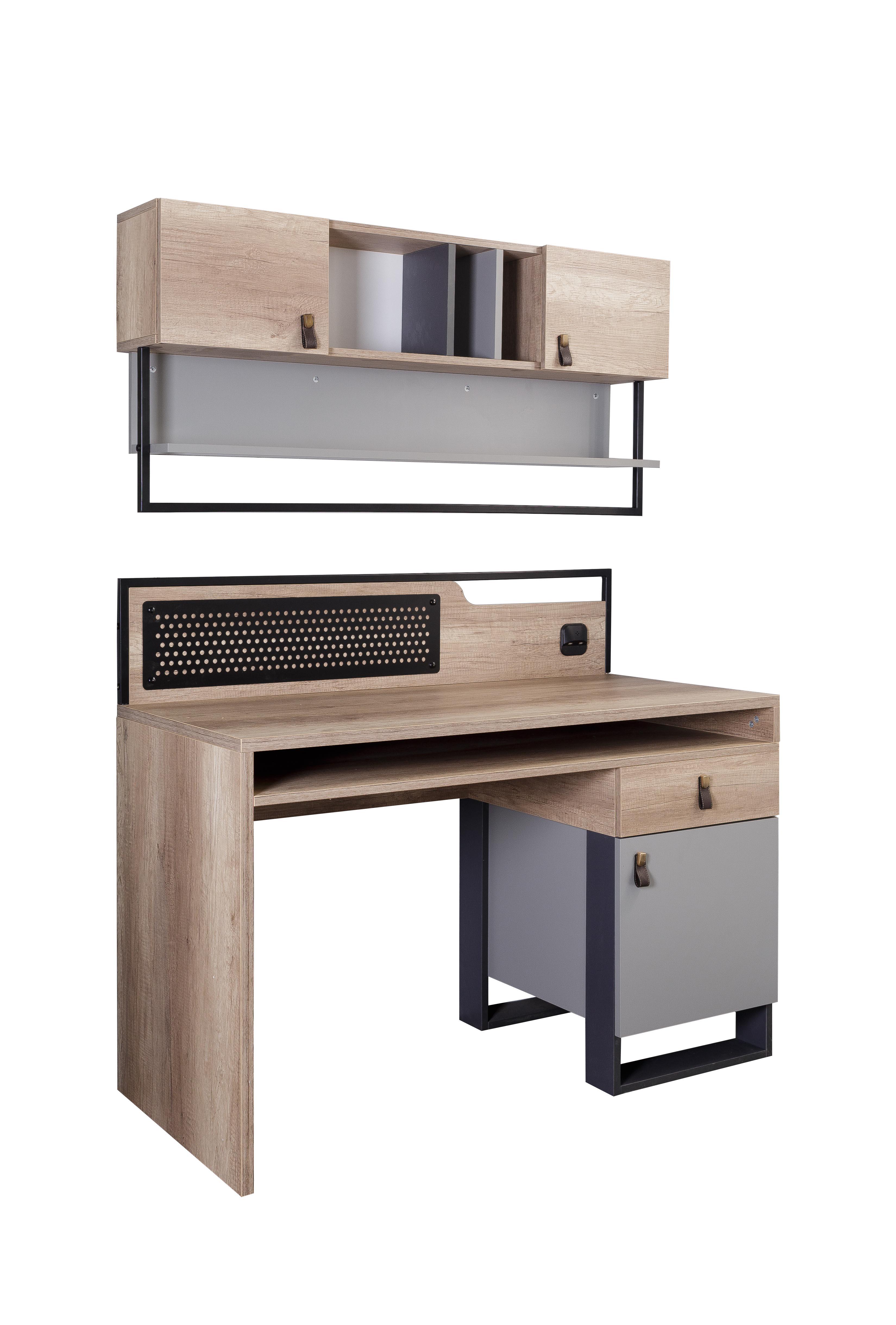 Titi Schreibtisch mit USB Corner inklusive Wandregal