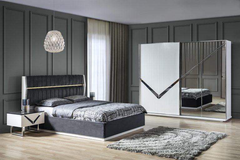 Lake Schlafzimmer Venus Set mit Bett in 180x200 cm